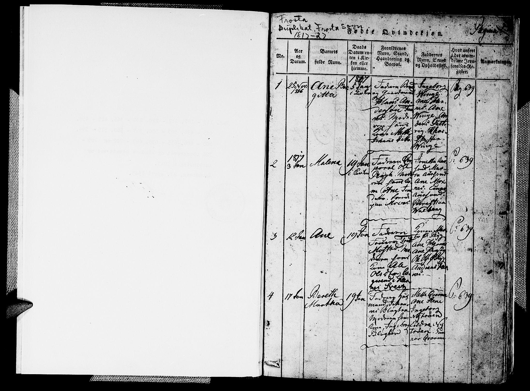 SAT, Ministerialprotokoller, klokkerbøker og fødselsregistre - Nord-Trøndelag, 713/L0124: Klokkerbok nr. 713C01, 1817-1827, s. 0-1