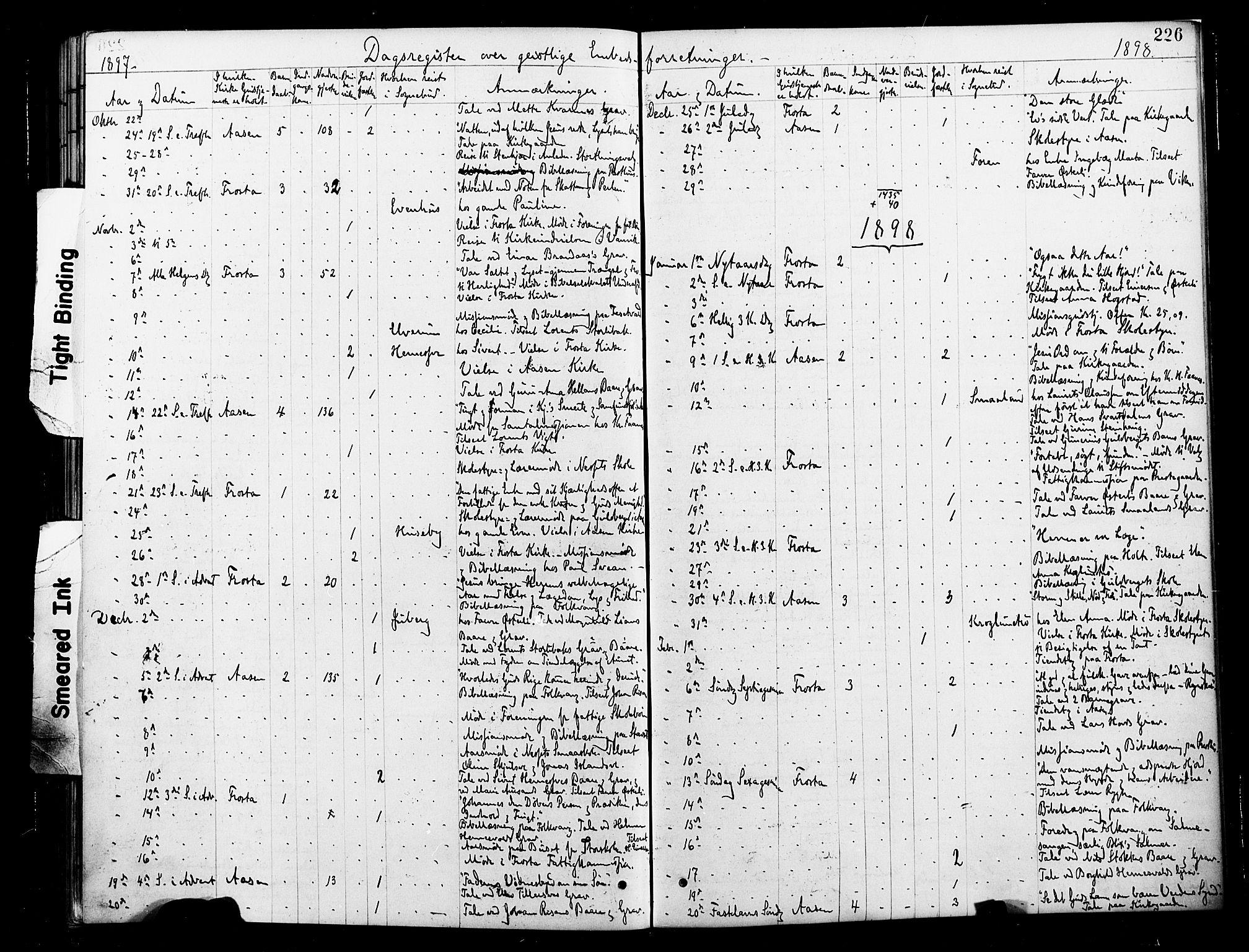 SAT, Ministerialprotokoller, klokkerbøker og fødselsregistre - Nord-Trøndelag, 713/L0121: Ministerialbok nr. 713A10, 1888-1898, s. 226