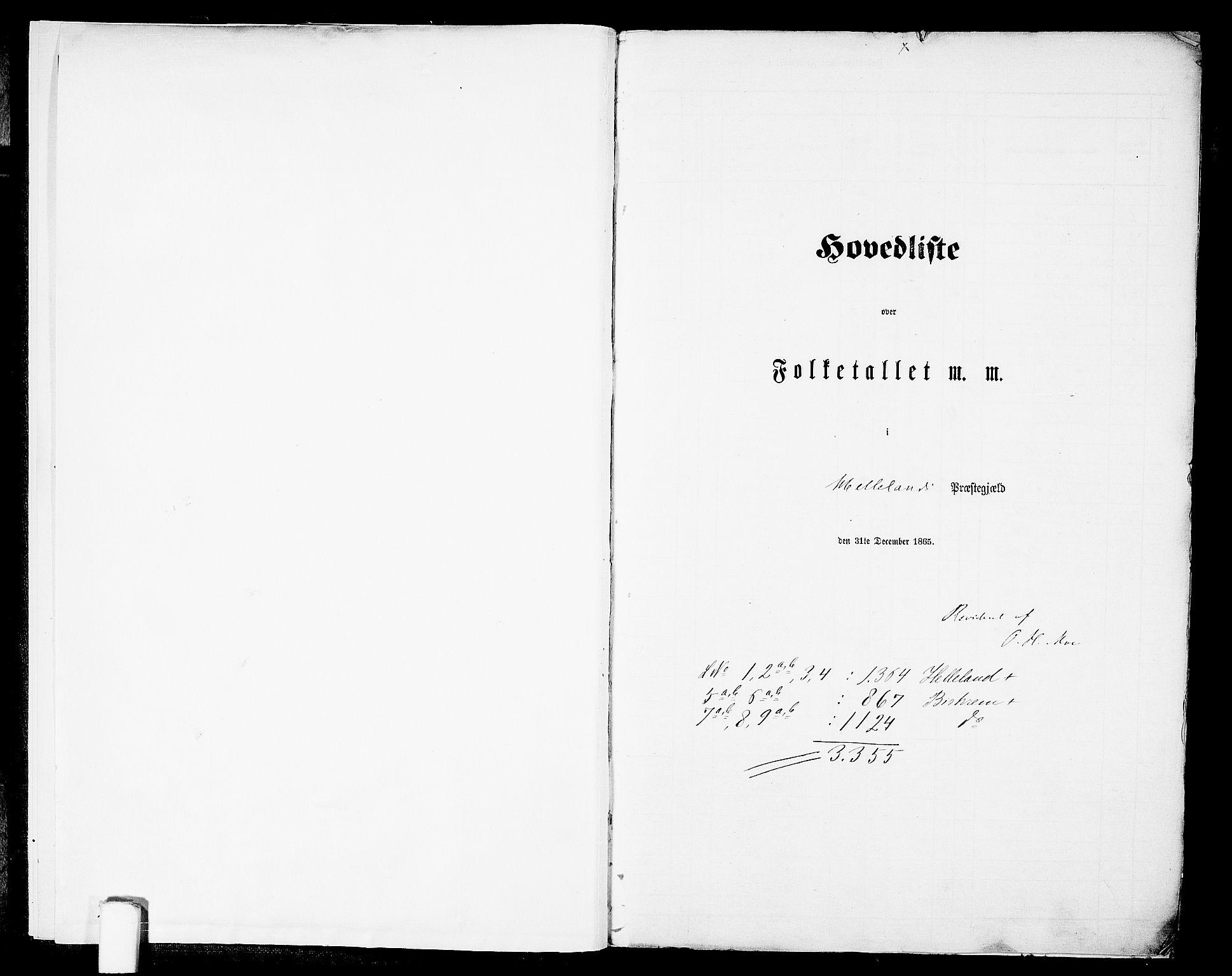 RA, Folketelling 1865 for 1115P Helleland prestegjeld, 1865, s. 5