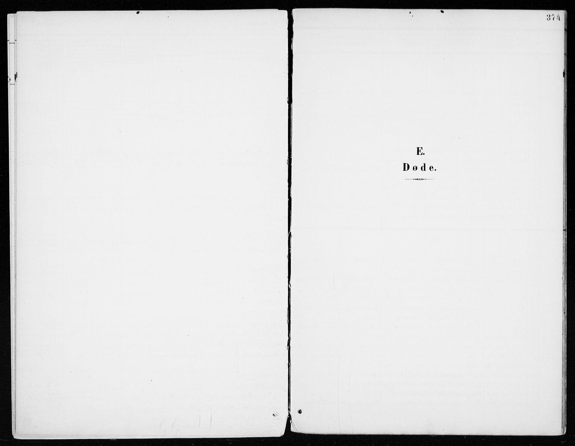 SAH, Vang prestekontor, Hedmark, H/Ha/Haa/L0021: Ministerialbok nr. 21, 1902-1917, s. 374