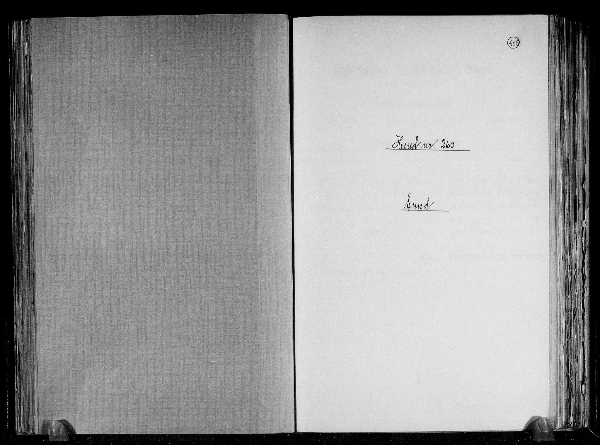RA, Folketelling 1891 for 1245 Sund herred, 1891, s. 1