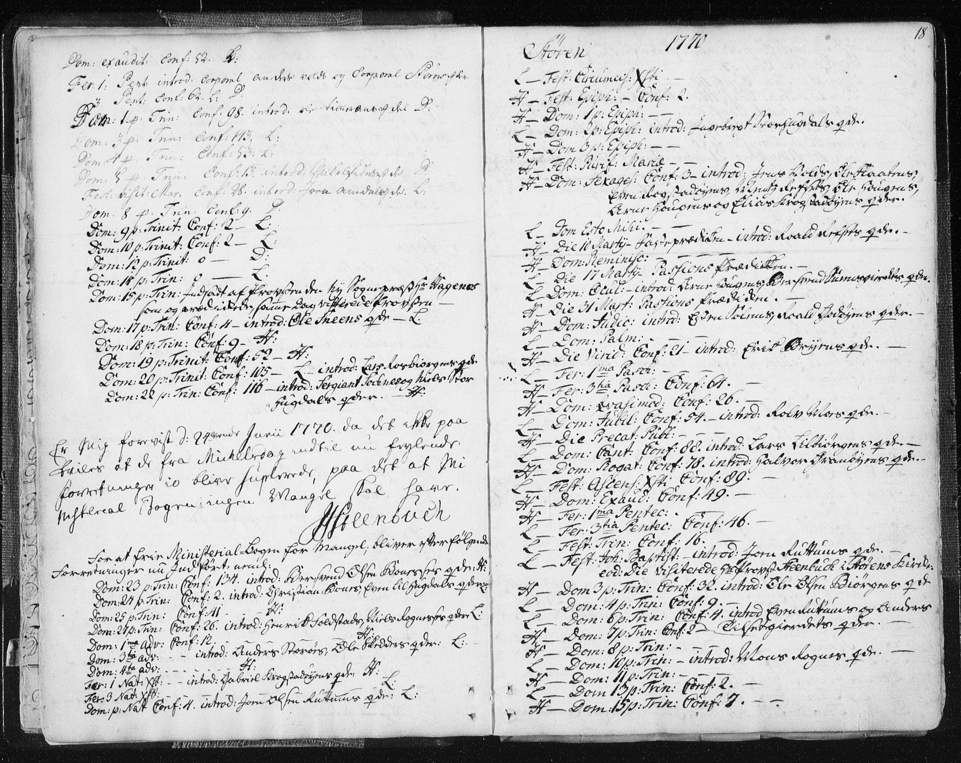 SAT, Ministerialprotokoller, klokkerbøker og fødselsregistre - Sør-Trøndelag, 687/L0991: Ministerialbok nr. 687A02, 1747-1790, s. 18