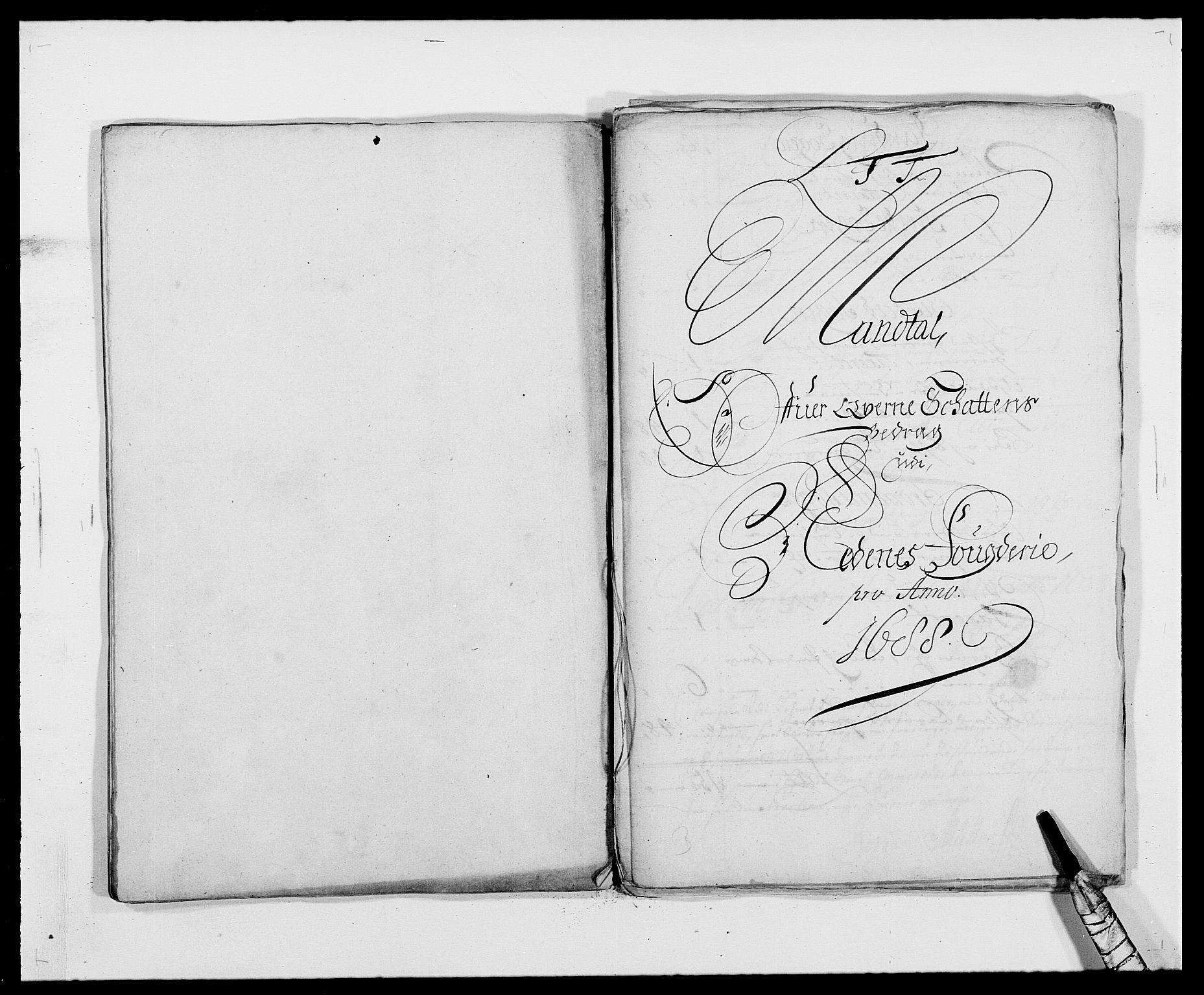 RA, Rentekammeret inntil 1814, Reviderte regnskaper, Fogderegnskap, R39/L2309: Fogderegnskap Nedenes, 1684-1689, s. 225