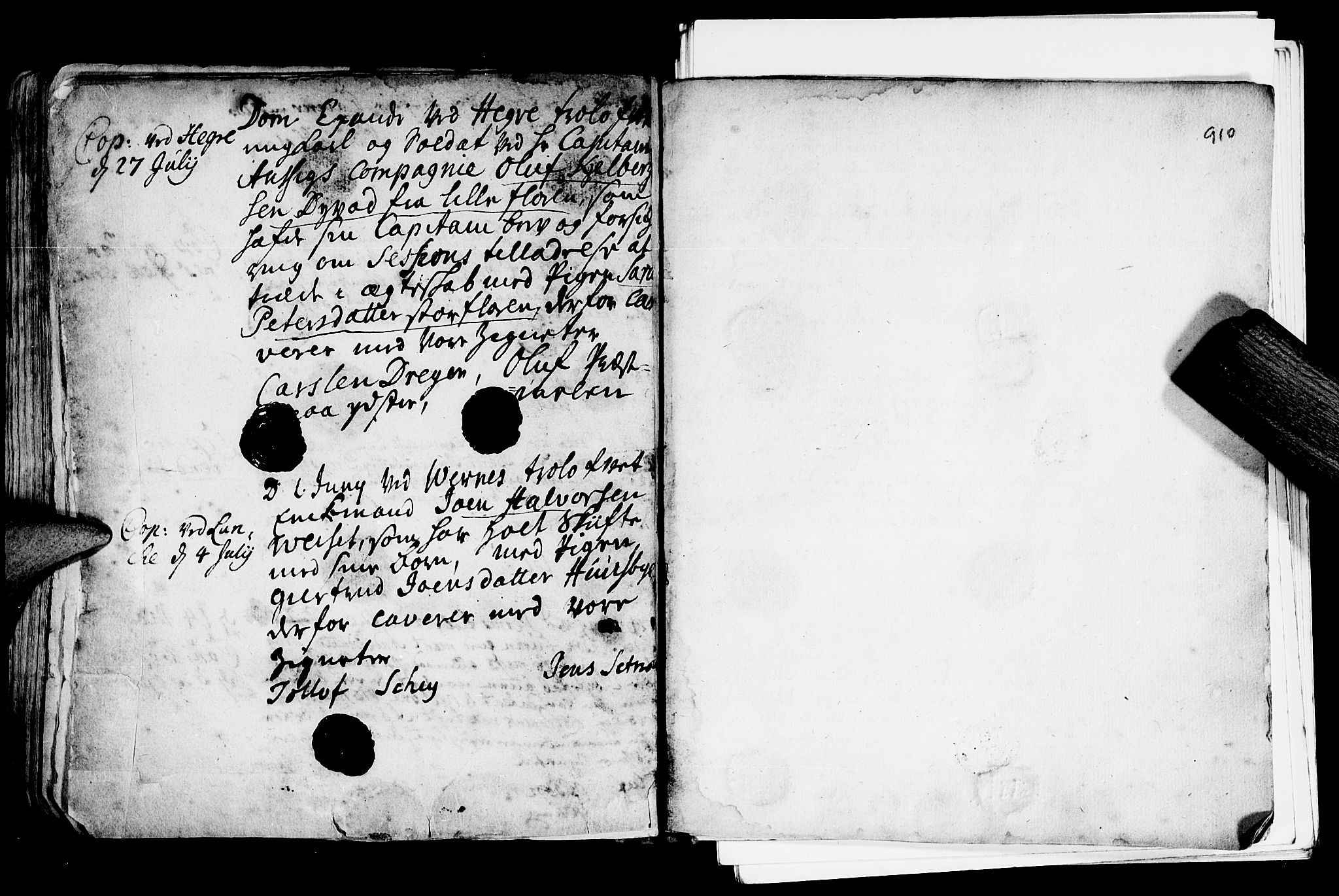 SAT, Ministerialprotokoller, klokkerbøker og fødselsregistre - Nord-Trøndelag, 709/L0055: Ministerialbok nr. 709A03, 1730-1739, s. 909-910