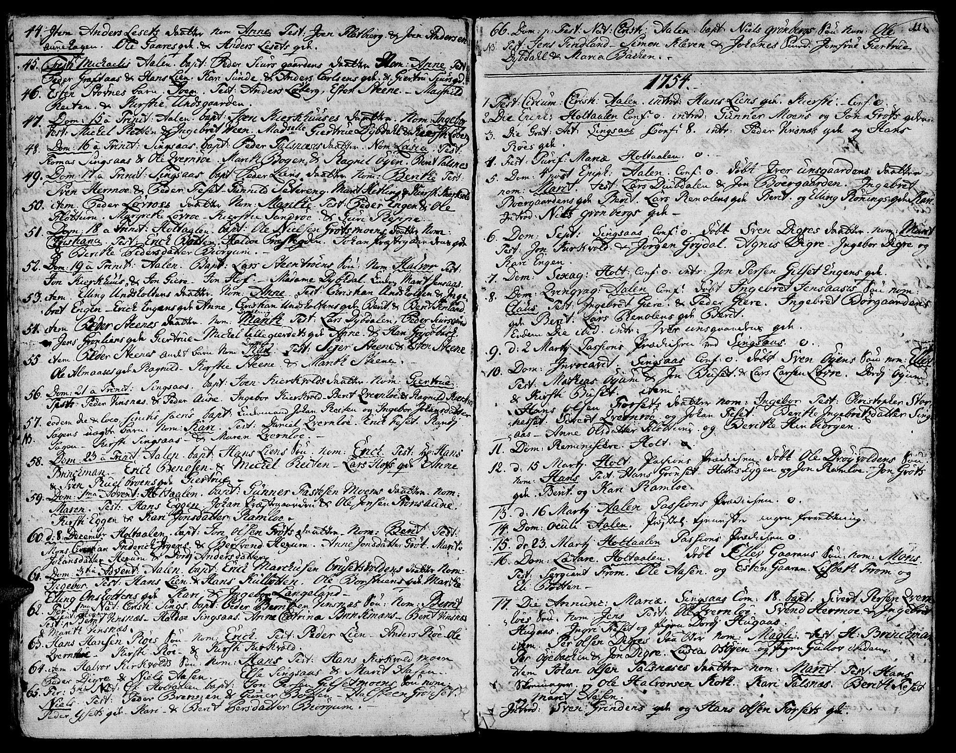 SAT, Ministerialprotokoller, klokkerbøker og fødselsregistre - Sør-Trøndelag, 685/L0952: Ministerialbok nr. 685A01, 1745-1804, s. 11