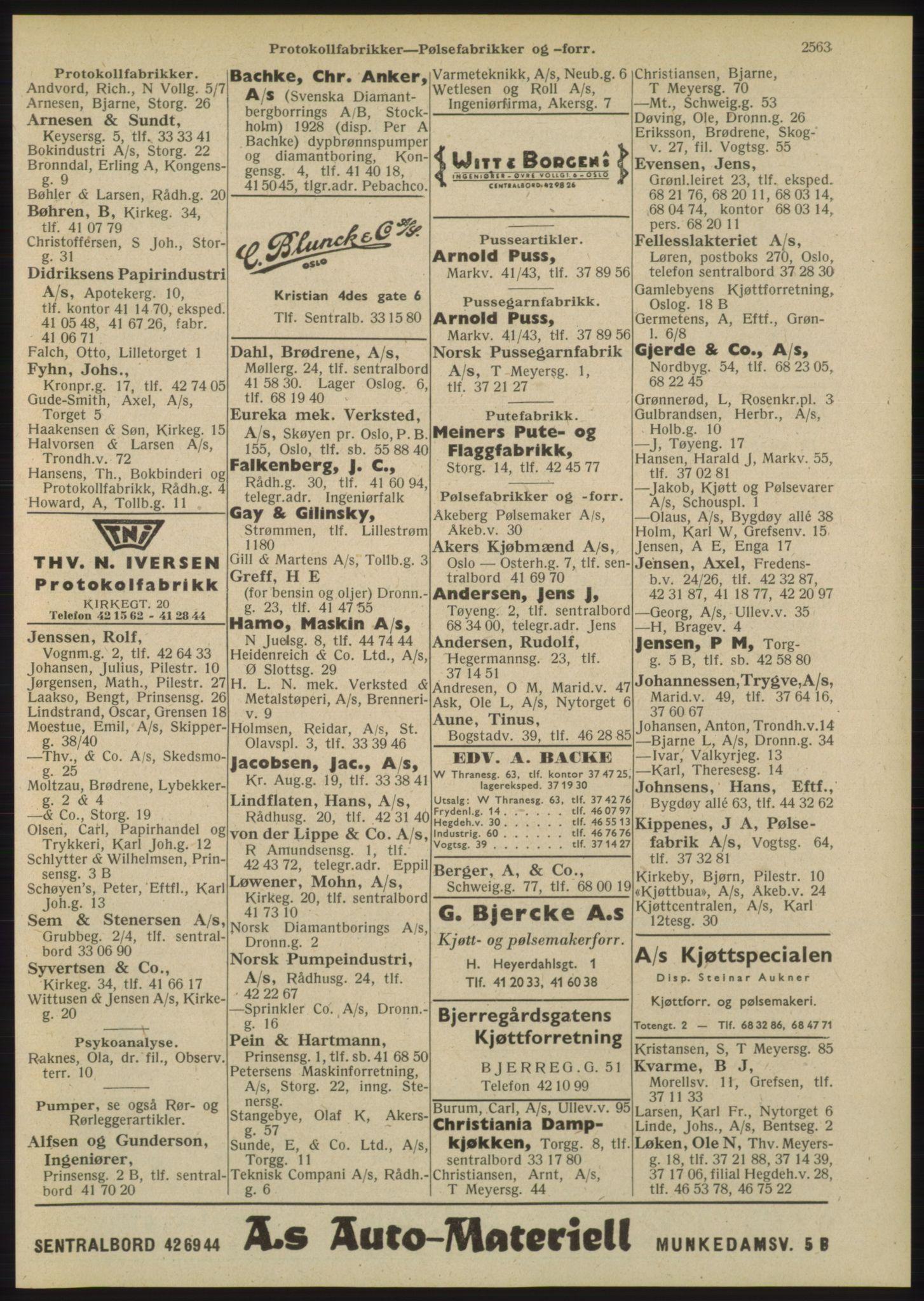 PUBL, Kristiania/Oslo adressebok, 1948, s. 2563