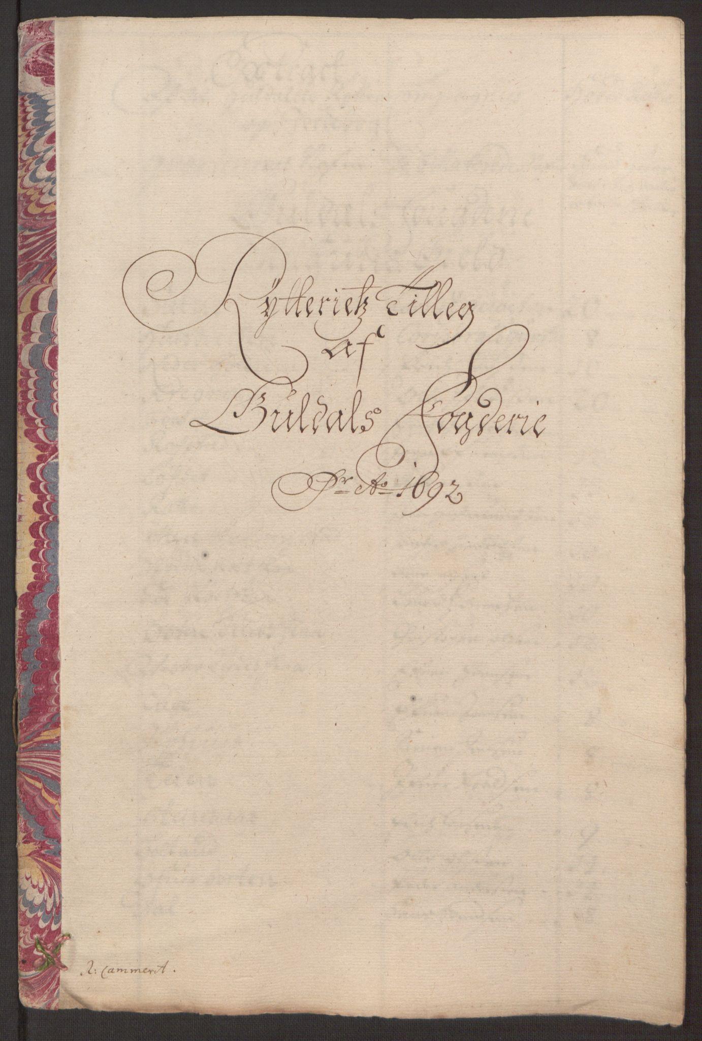 RA, Rentekammeret inntil 1814, Reviderte regnskaper, Fogderegnskap, R59/L3942: Fogderegnskap Gauldal, 1692, s. 209