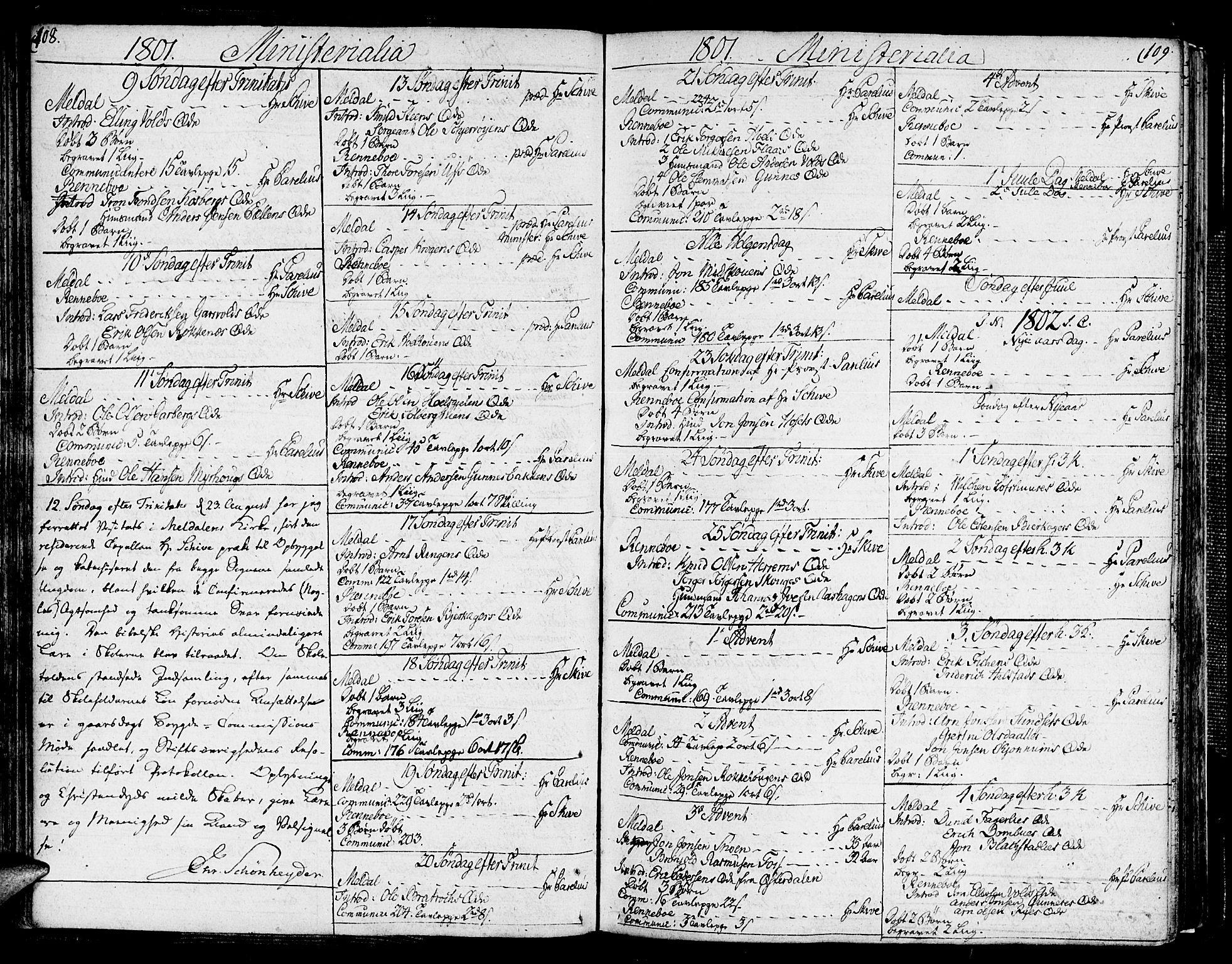 SAT, Ministerialprotokoller, klokkerbøker og fødselsregistre - Sør-Trøndelag, 672/L0852: Ministerialbok nr. 672A05, 1776-1815, s. 108-109