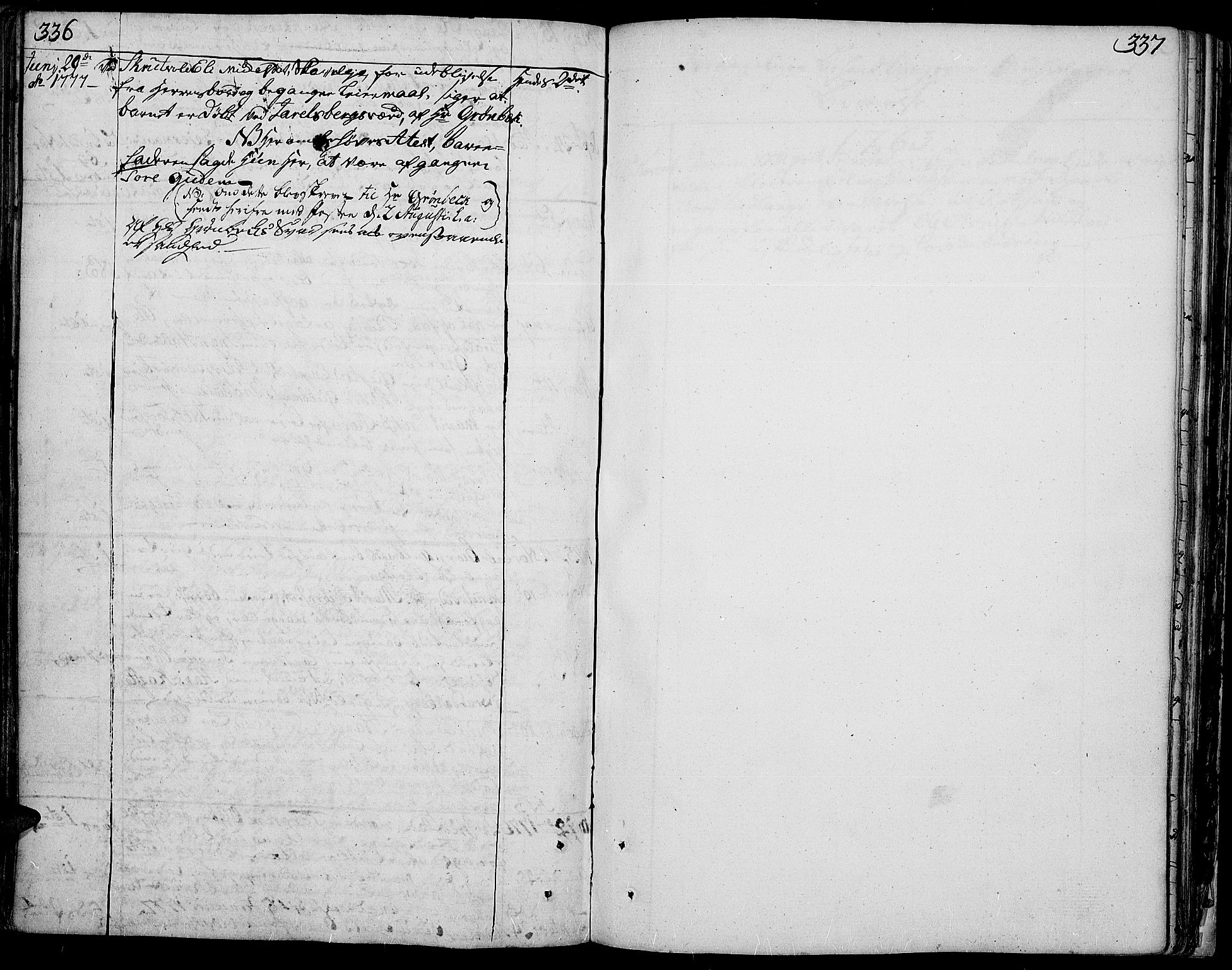 SAH, Aurdal prestekontor, Ministerialbok nr. 5, 1763-1781, s. 336-337