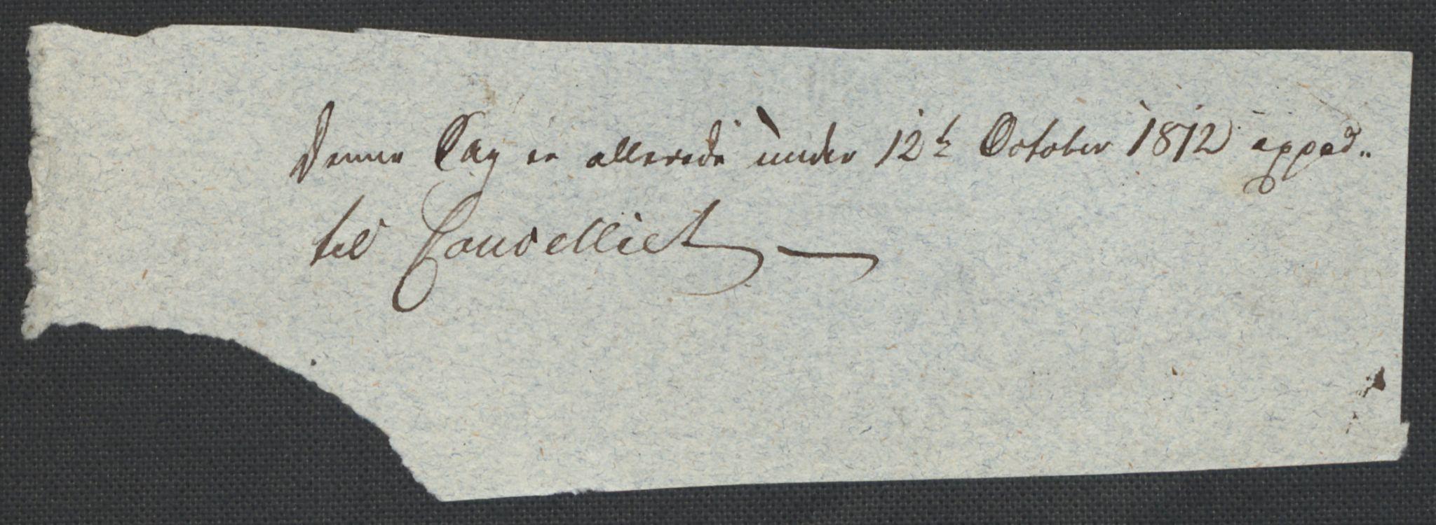 RA, Christie, Wilhelm Frimann Koren, F/L0004, 1814, s. 3