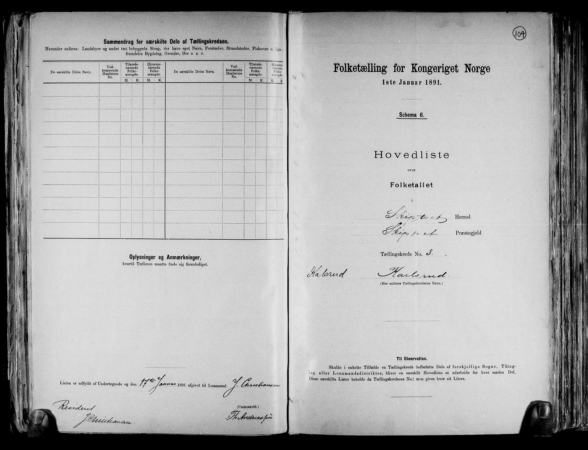 RA, Folketelling 1891 for 0127 Skiptvet herred, 1891, s. 10