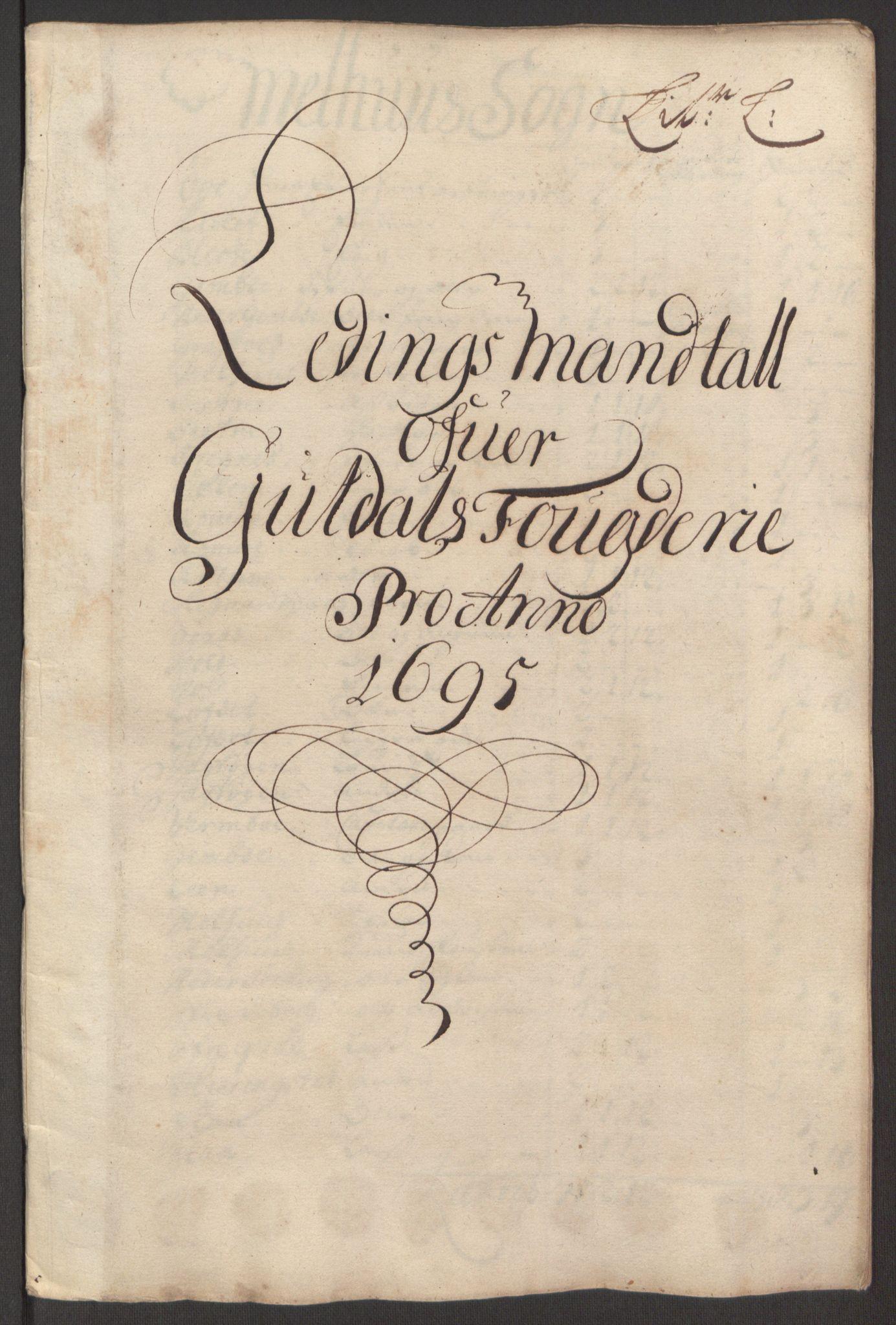 RA, Rentekammeret inntil 1814, Reviderte regnskaper, Fogderegnskap, R60/L3945: Fogderegnskap Orkdal og Gauldal, 1695, s. 381
