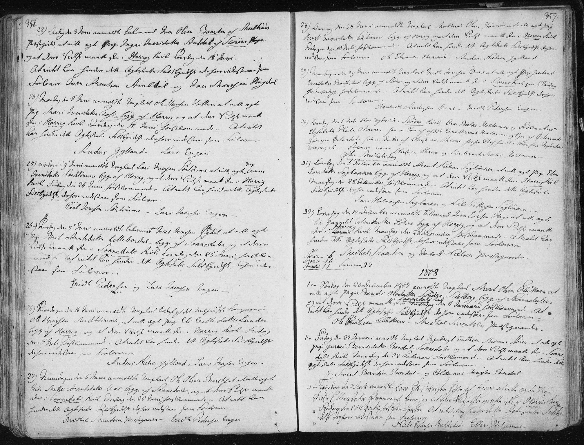 SAT, Ministerialprotokoller, klokkerbøker og fødselsregistre - Sør-Trøndelag, 687/L0992: Ministerialbok nr. 687A03 /1, 1788-1815, s. 356-357