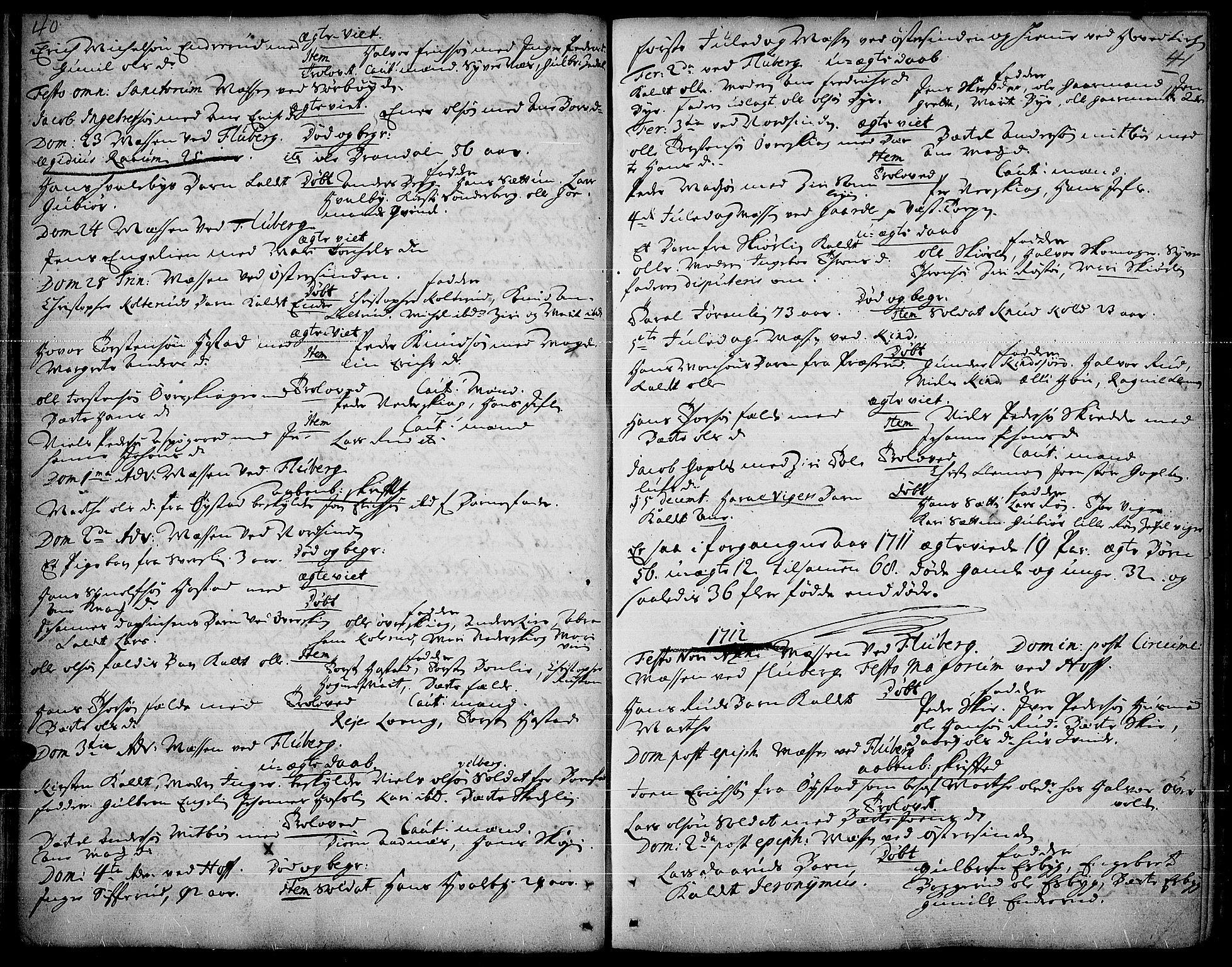 SAH, Land prestekontor, Ministerialbok nr. 1, 1708-1732, s. 40-41