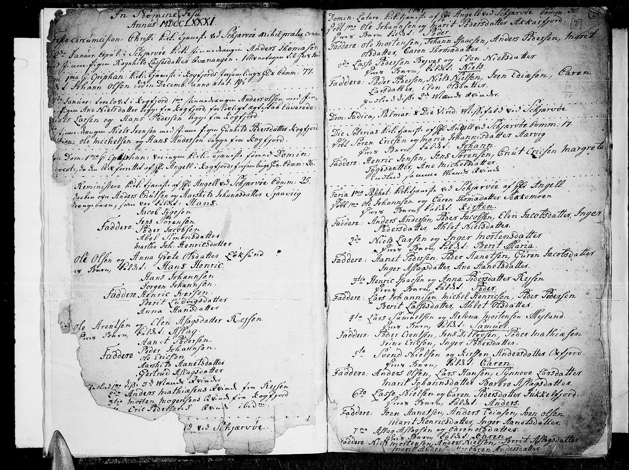 SATØ, Skjervøy sokneprestkontor, H/Ha/Haa/L0002kirke: Ministerialbok nr. 2, 1781-1817, s. 2-3