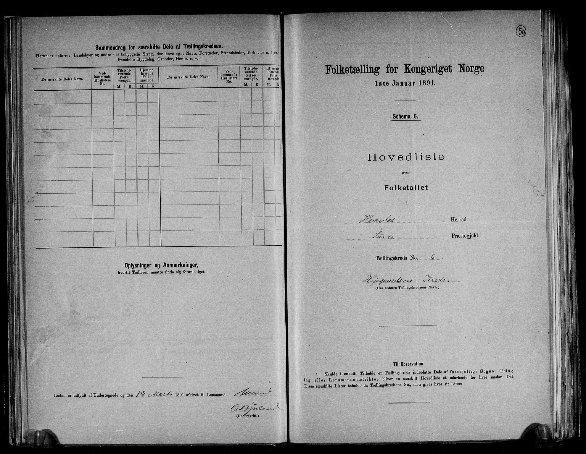 RA, Folketelling 1891 for 1113 Heskestad herred, 1891, s. 15