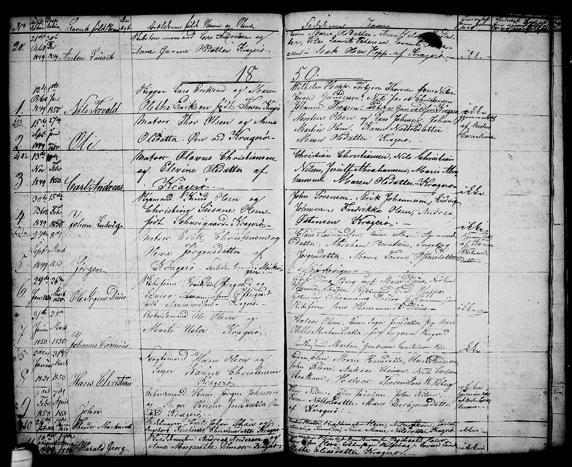 SAKO, Kragerø kirkebøker, G/Ga/L0003: Klokkerbok nr. 3, 1832-1852, s. 268