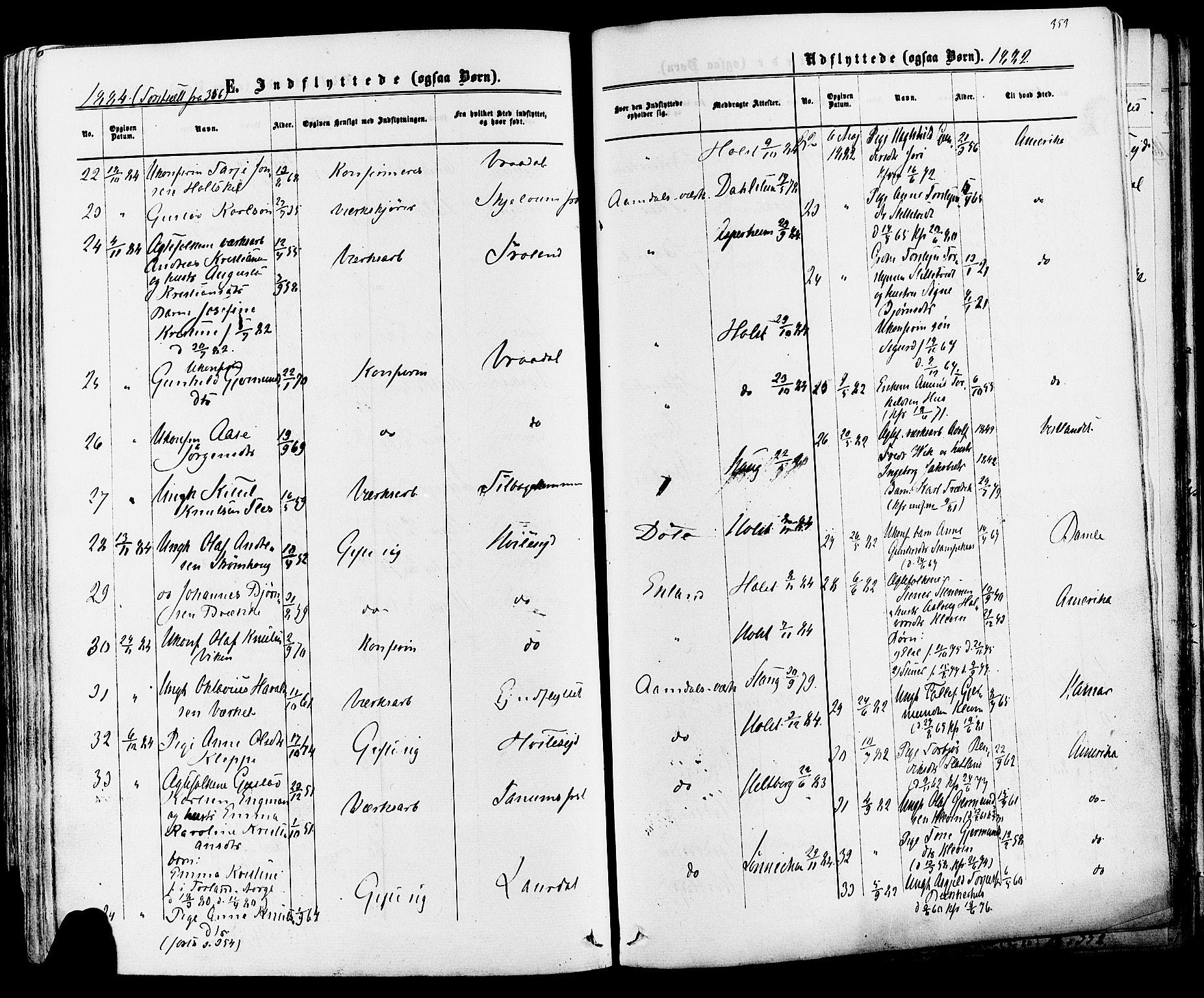 SAKO, Mo kirkebøker, F/Fa/L0006: Ministerialbok nr. I 6, 1865-1885, s. 353