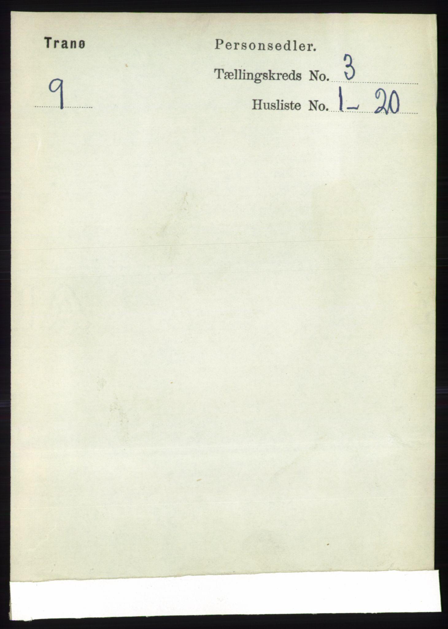 RA, Folketelling 1891 for 1927 Tranøy herred, 1891, s. 885
