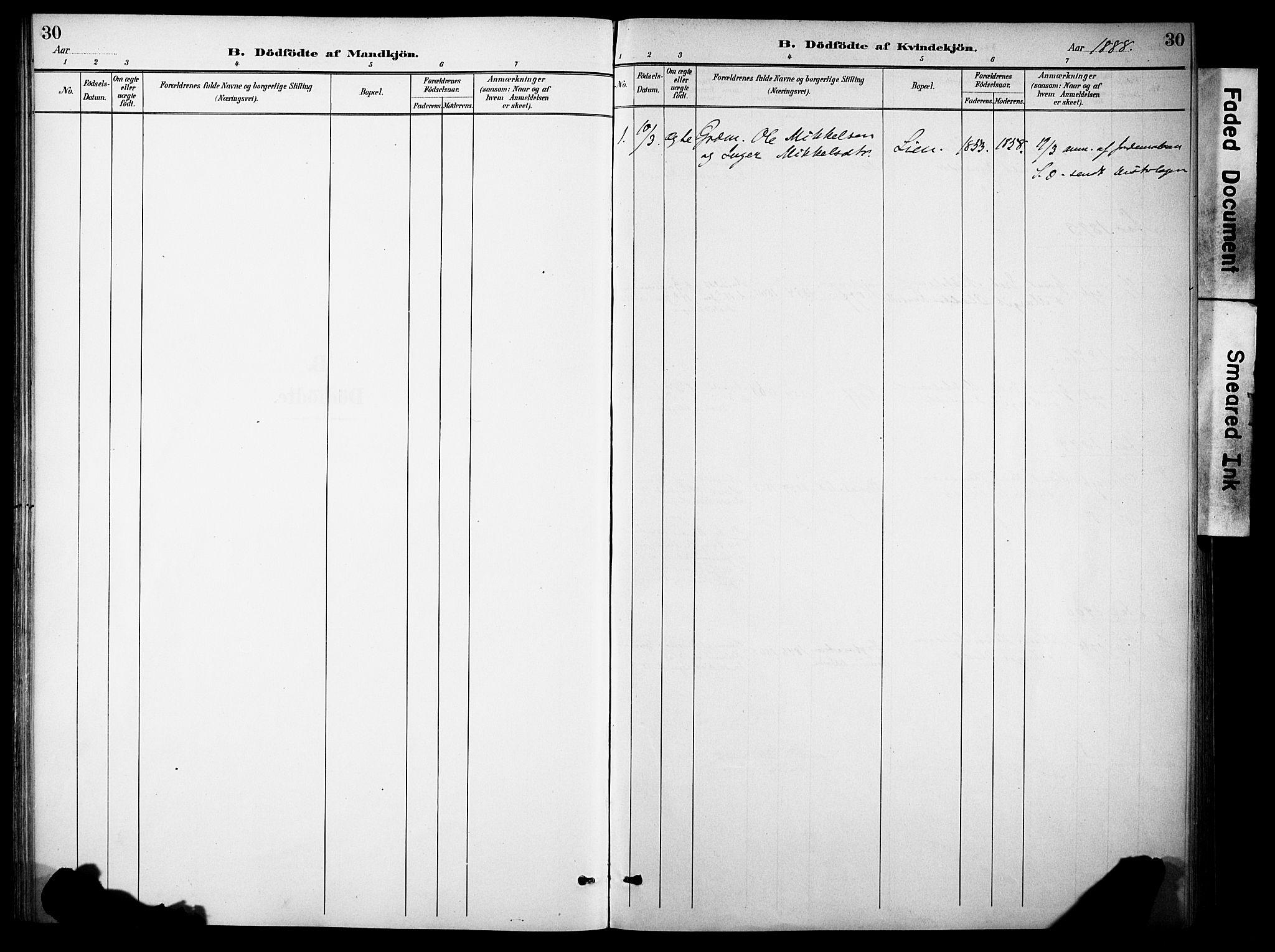 SAH, Sør-Aurdal prestekontor, Ministerialbok nr. 10, 1886-1906, s. 30