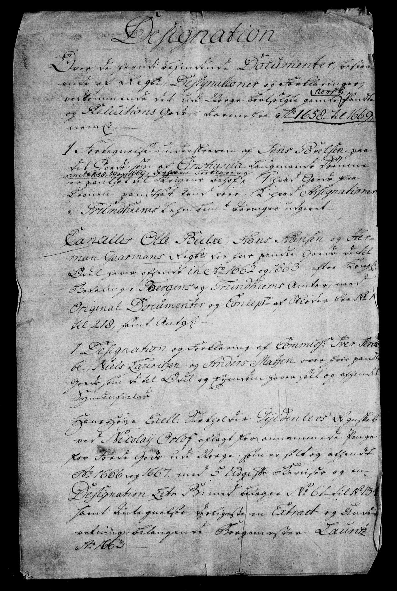 RA, Rentekammeret inntil 1814, Realistisk ordnet avdeling, On/L0011: [Jj 12]: Salg av pante- og reluisjonsgods i Norge, 1658-1729, s. 2
