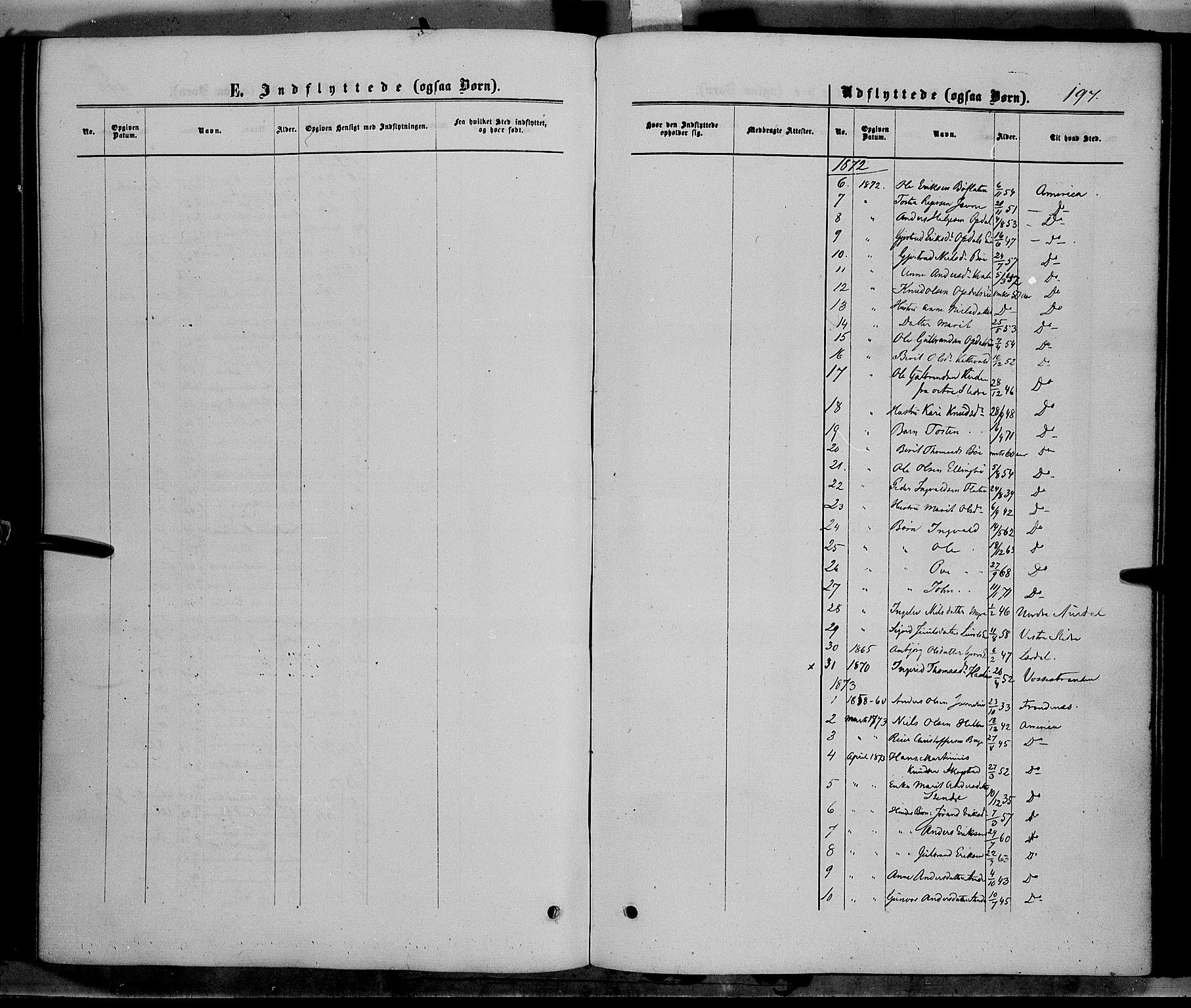 SAH, Vang prestekontor, Valdres, Ministerialbok nr. 7, 1865-1881, s. 197