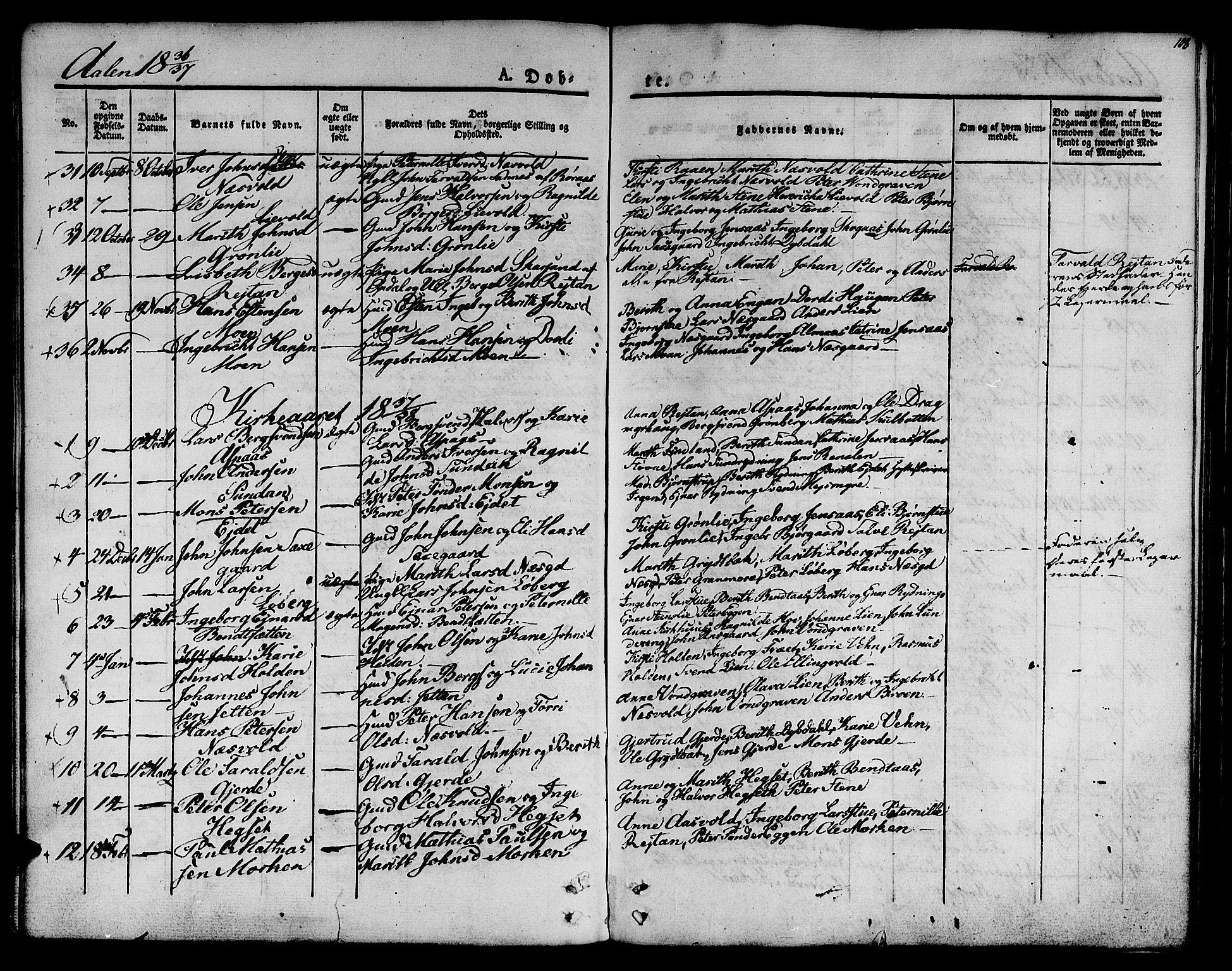 SAT, Ministerialprotokoller, klokkerbøker og fødselsregistre - Sør-Trøndelag, 685/L0959: Ministerialbok nr. 685A04 /3, 1829-1845, s. 108