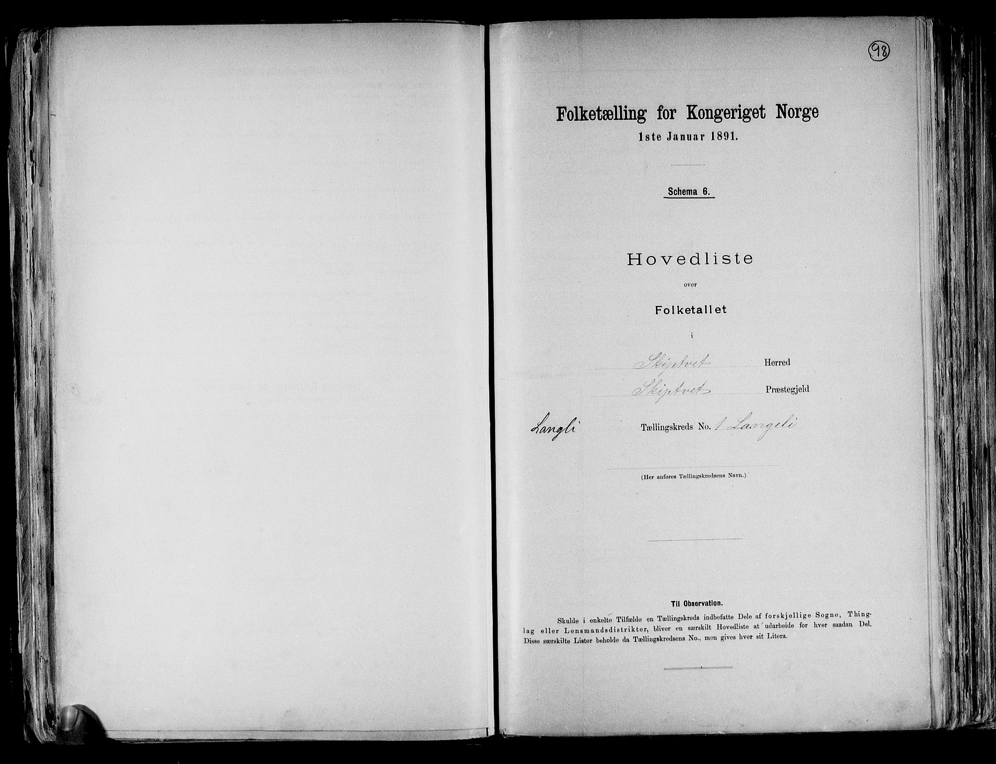 RA, Folketelling 1891 for 0127 Skiptvet herred, 1891, s. 4