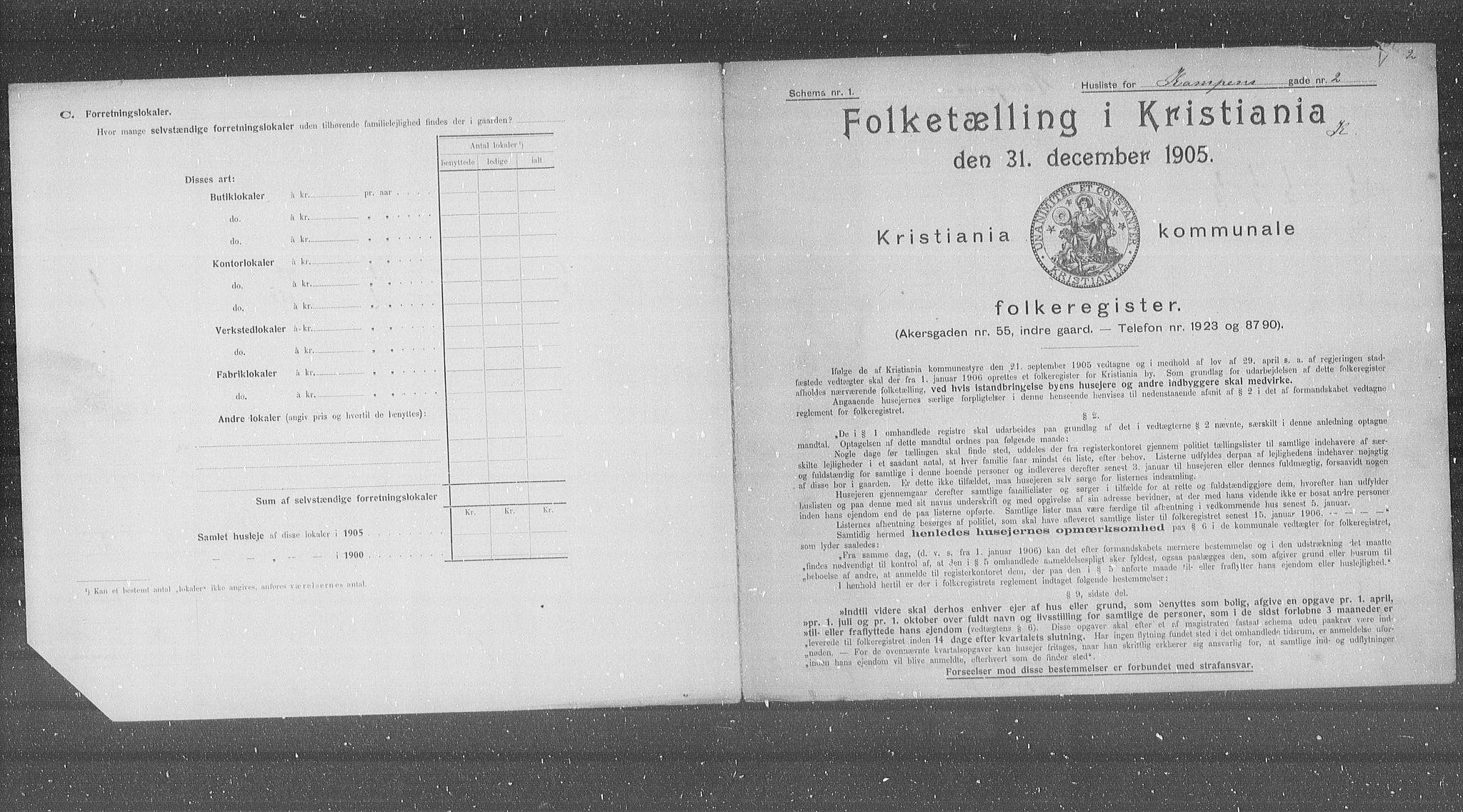 OBA, Kommunal folketelling 1905 for Kristiania kjøpstad, 1905, s. 25060