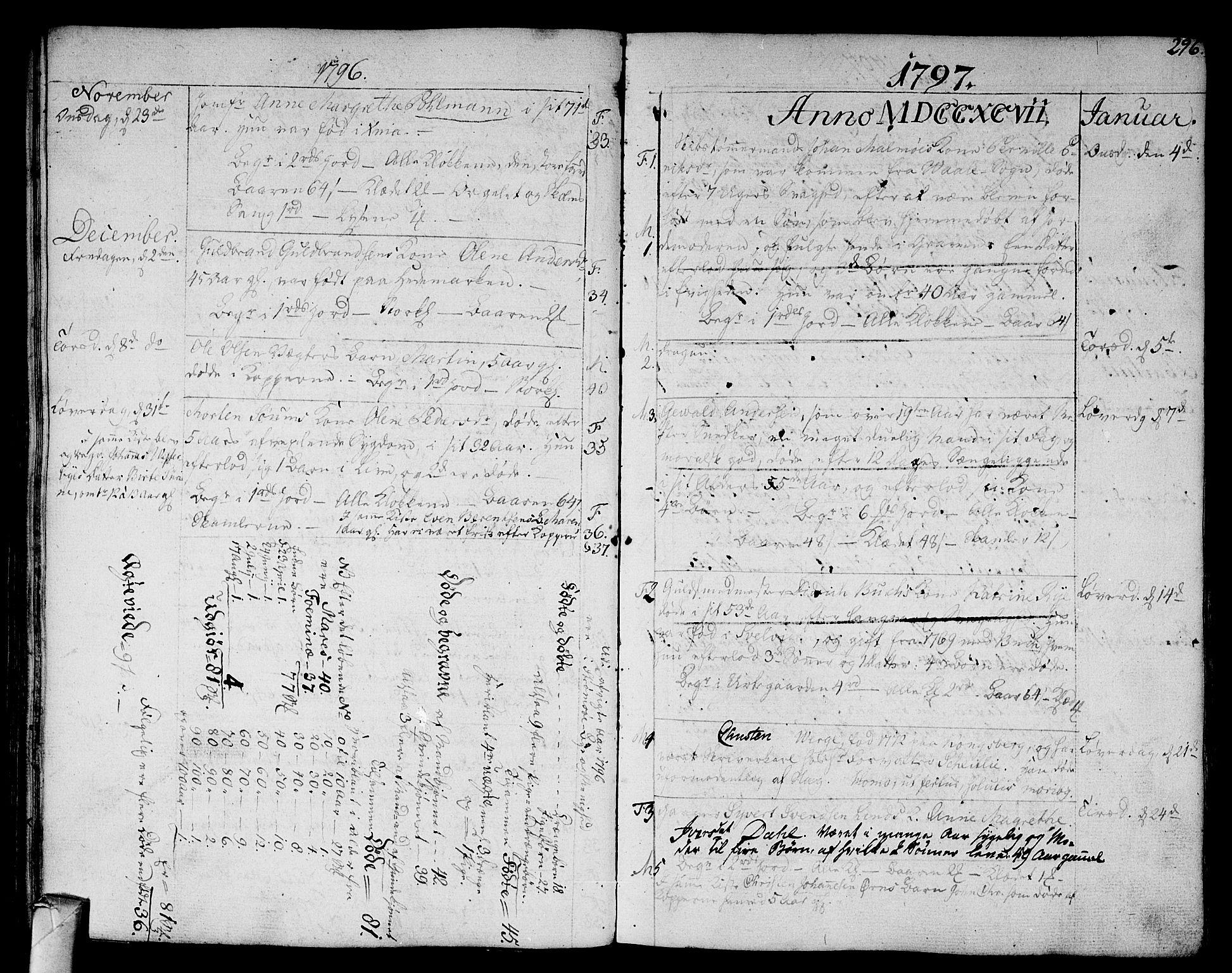 SAKO, Strømsø kirkebøker, F/Fa/L0010: Ministerialbok nr. I 10, 1792-1822, s. 296