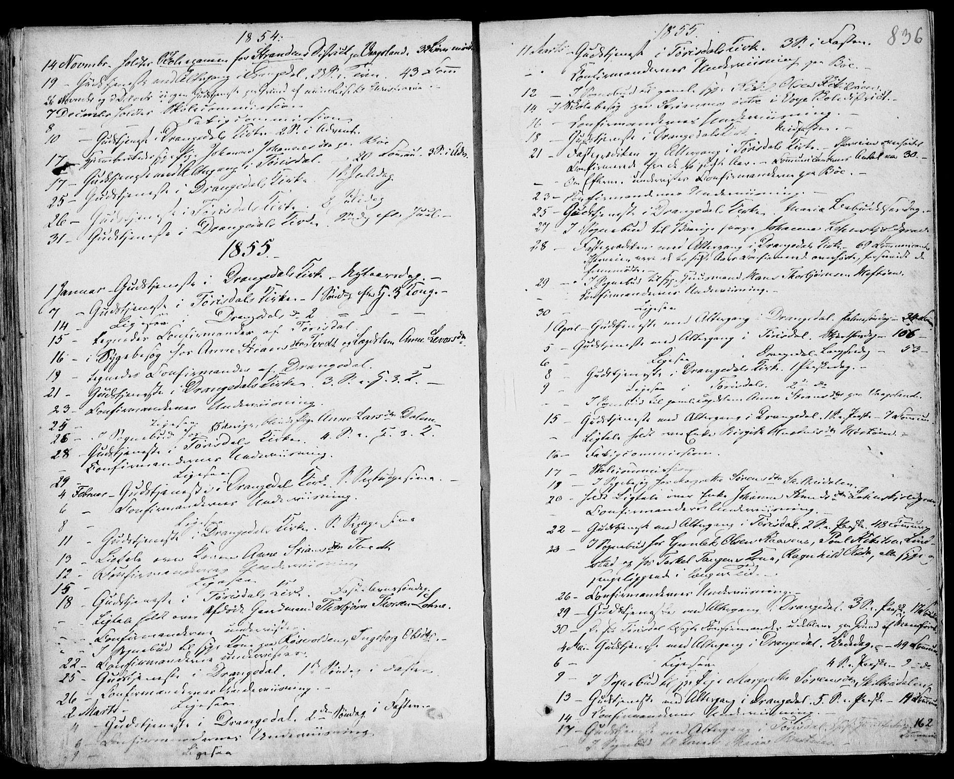 SAKO, Drangedal kirkebøker, F/Fa/L0007b: Ministerialbok nr. 7b, 1837-1856, s. 836