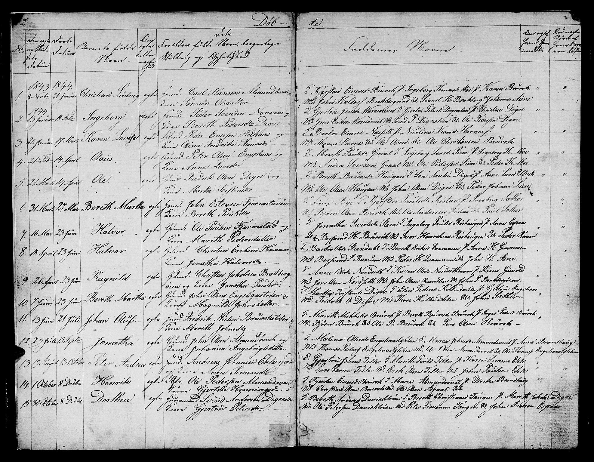 SAT, Ministerialprotokoller, klokkerbøker og fødselsregistre - Sør-Trøndelag, 608/L0339: Klokkerbok nr. 608C05, 1844-1863, s. 2-3