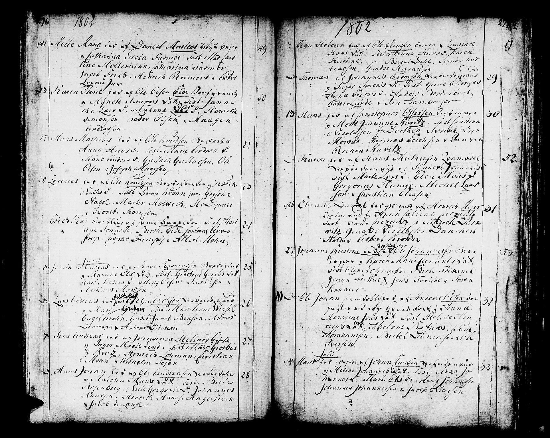 SAB, Domkirken sokneprestembete, H/Haa/L0004: Ministerialbok nr. A 4, 1763-1820, s. 276-277