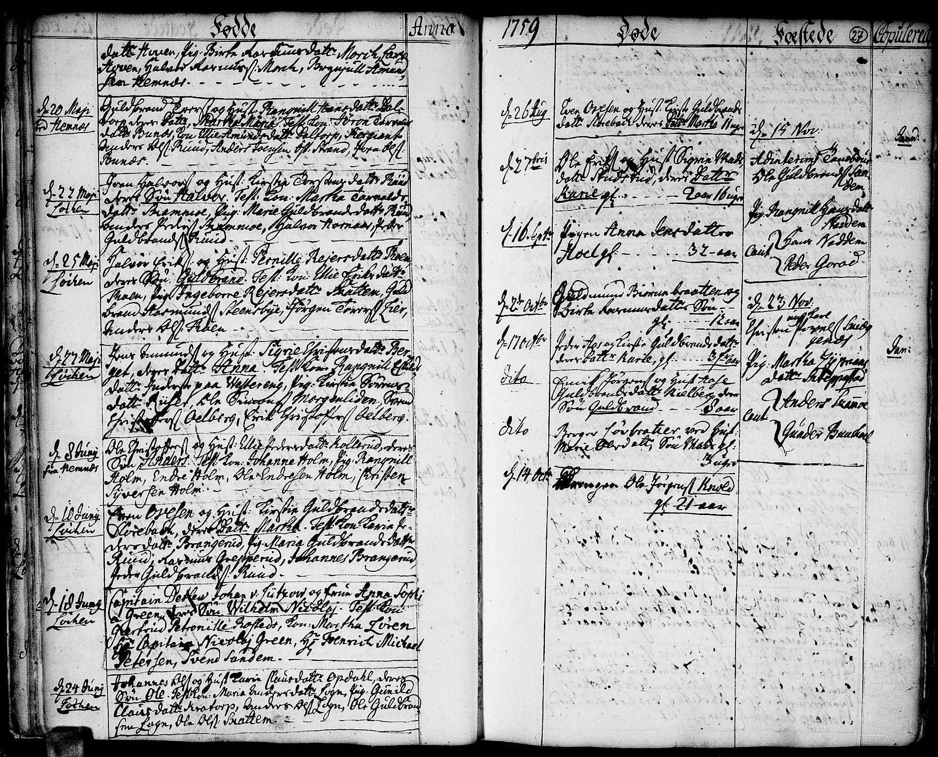 SAO, Høland prestekontor Kirkebøker, F/Fa/L0004: Ministerialbok nr. I 4, 1757-1780, s. 27