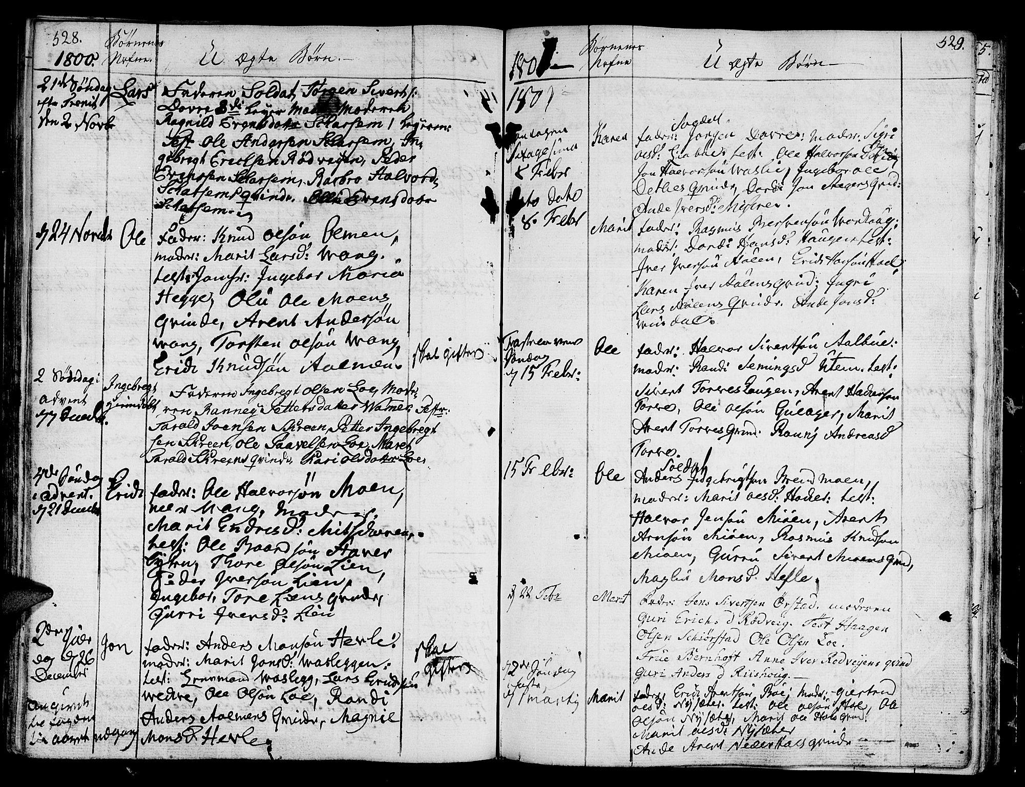 SAT, Ministerialprotokoller, klokkerbøker og fødselsregistre - Sør-Trøndelag, 678/L0893: Ministerialbok nr. 678A03, 1792-1805, s. 528-529