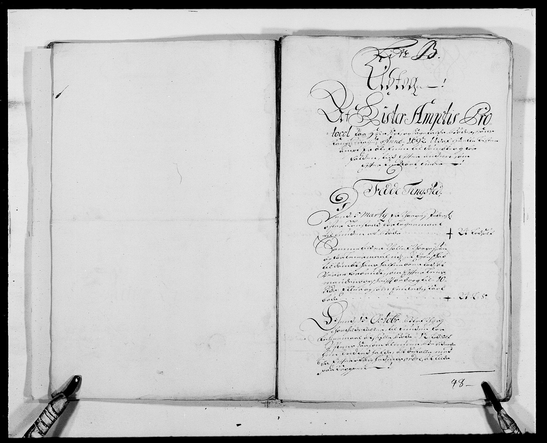 RA, Rentekammeret inntil 1814, Reviderte regnskaper, Fogderegnskap, R41/L2536: Fogderegnskap Lista, 1690-1693, s. 206