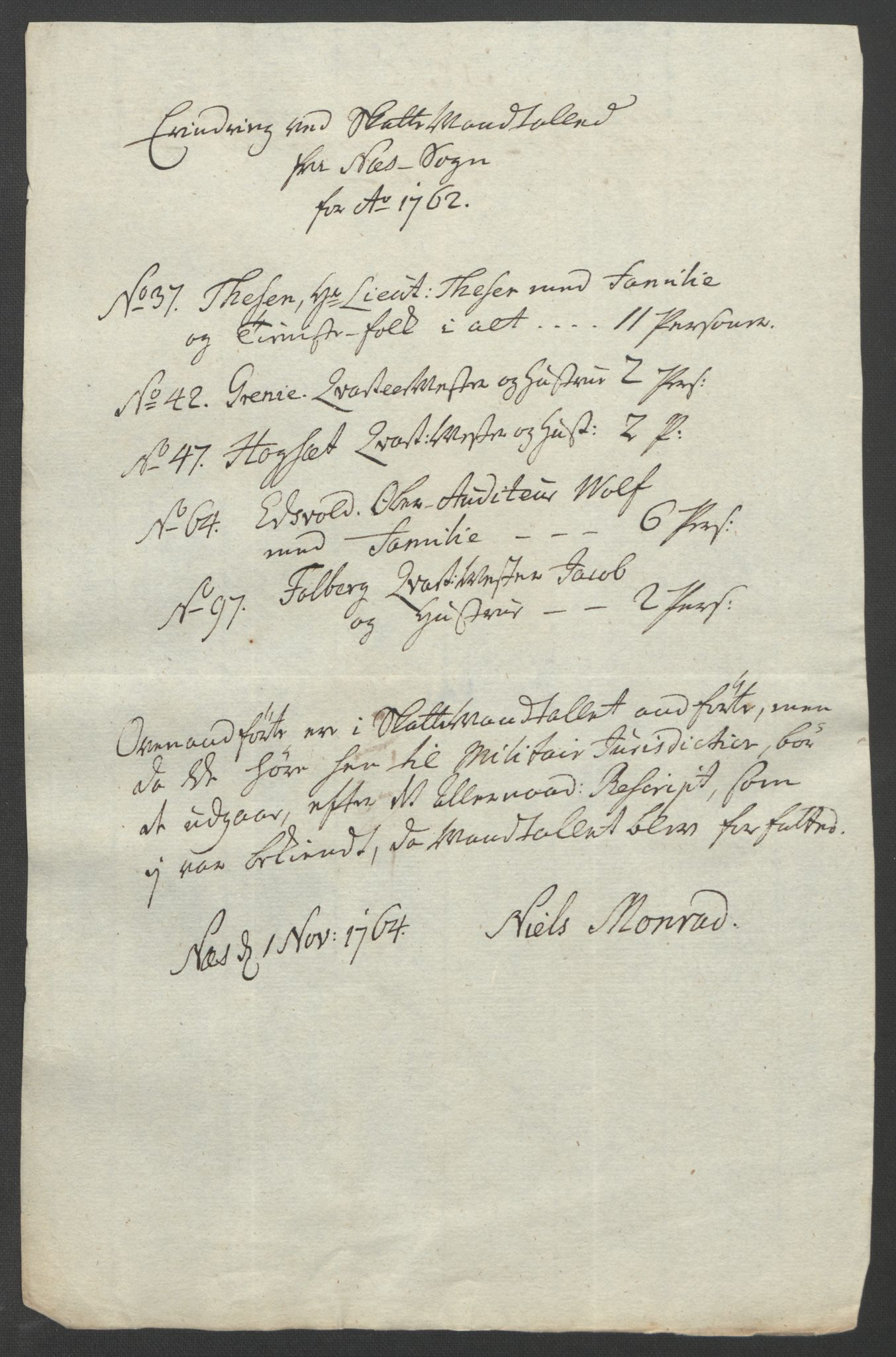 RA, Rentekammeret inntil 1814, Reviderte regnskaper, Fogderegnskap, R12/L0802: Ekstraskatten Øvre Romerike, 1762, s. 521