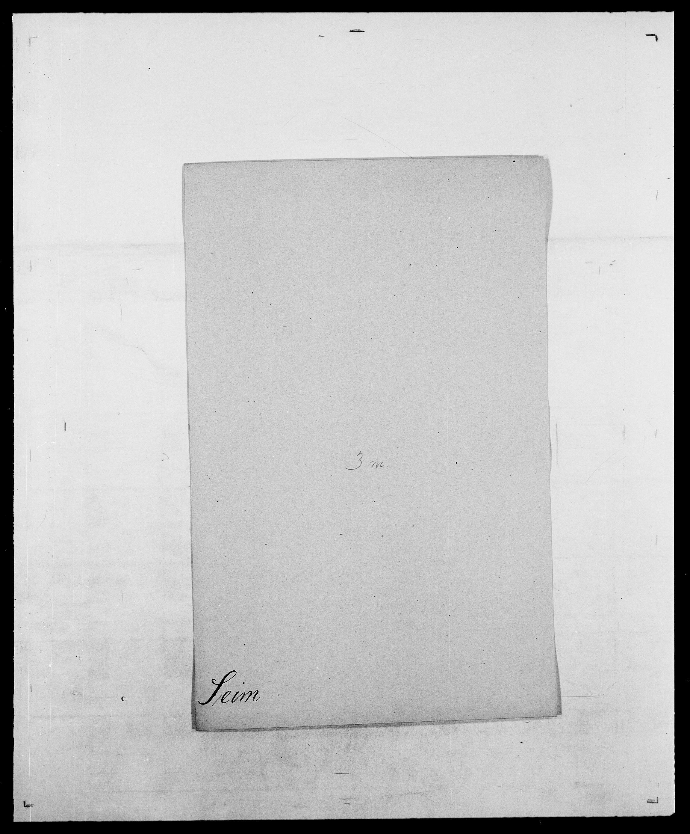 SAO, Delgobe, Charles Antoine - samling, D/Da/L0035: Schnabel - sjetman, s. 605