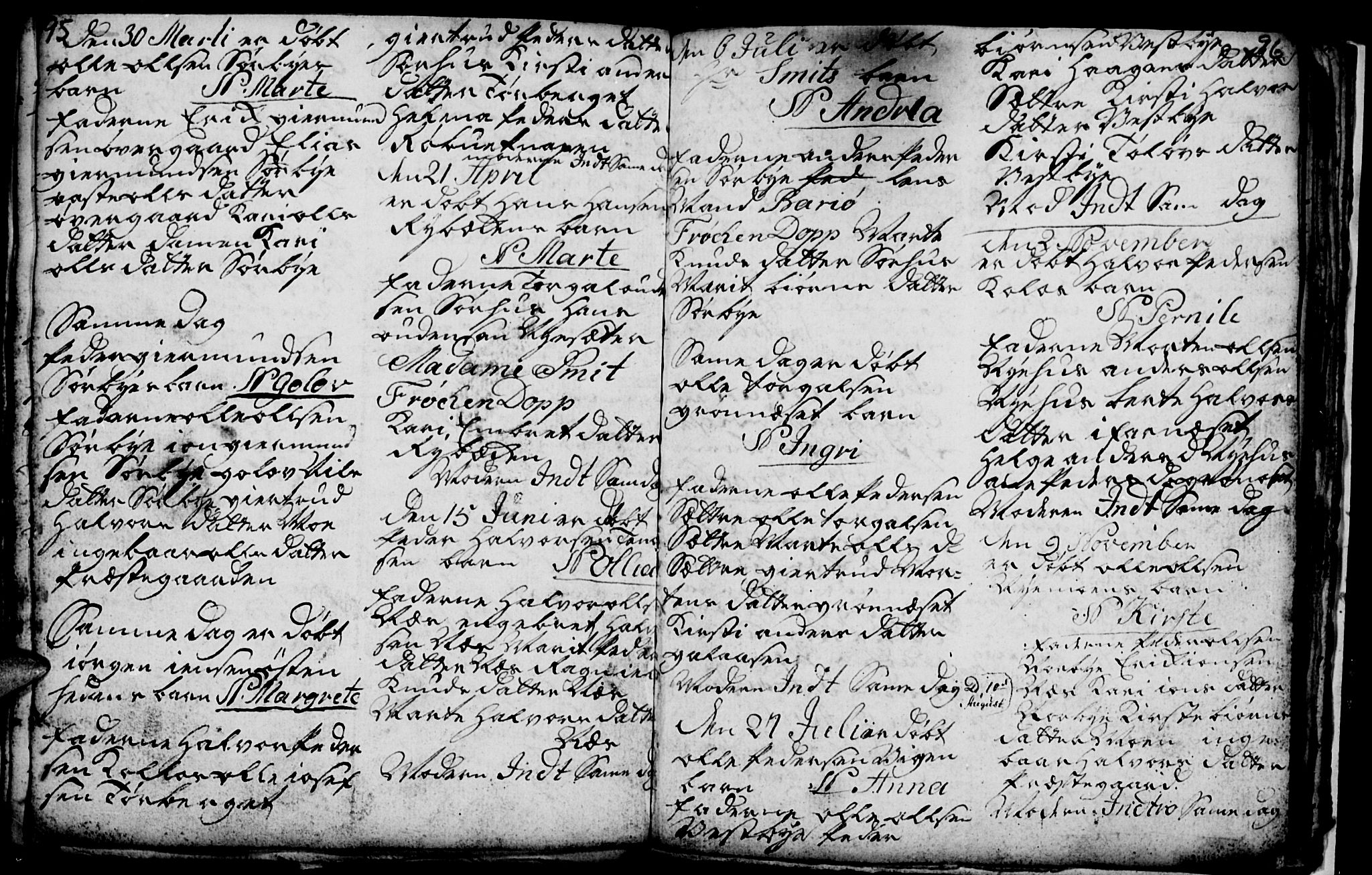 SAH, Trysil prestekontor, Klokkerbok nr. 1, 1781-1799, s. 95-96