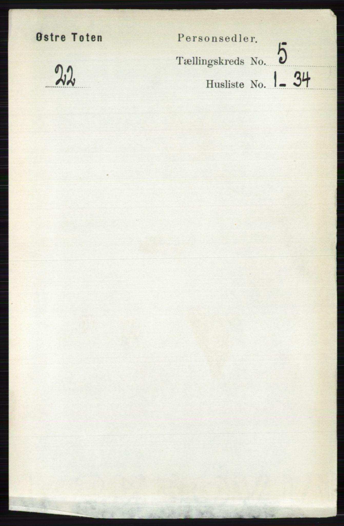 RA, Folketelling 1891 for 0528 Østre Toten herred, 1891, s. 3179