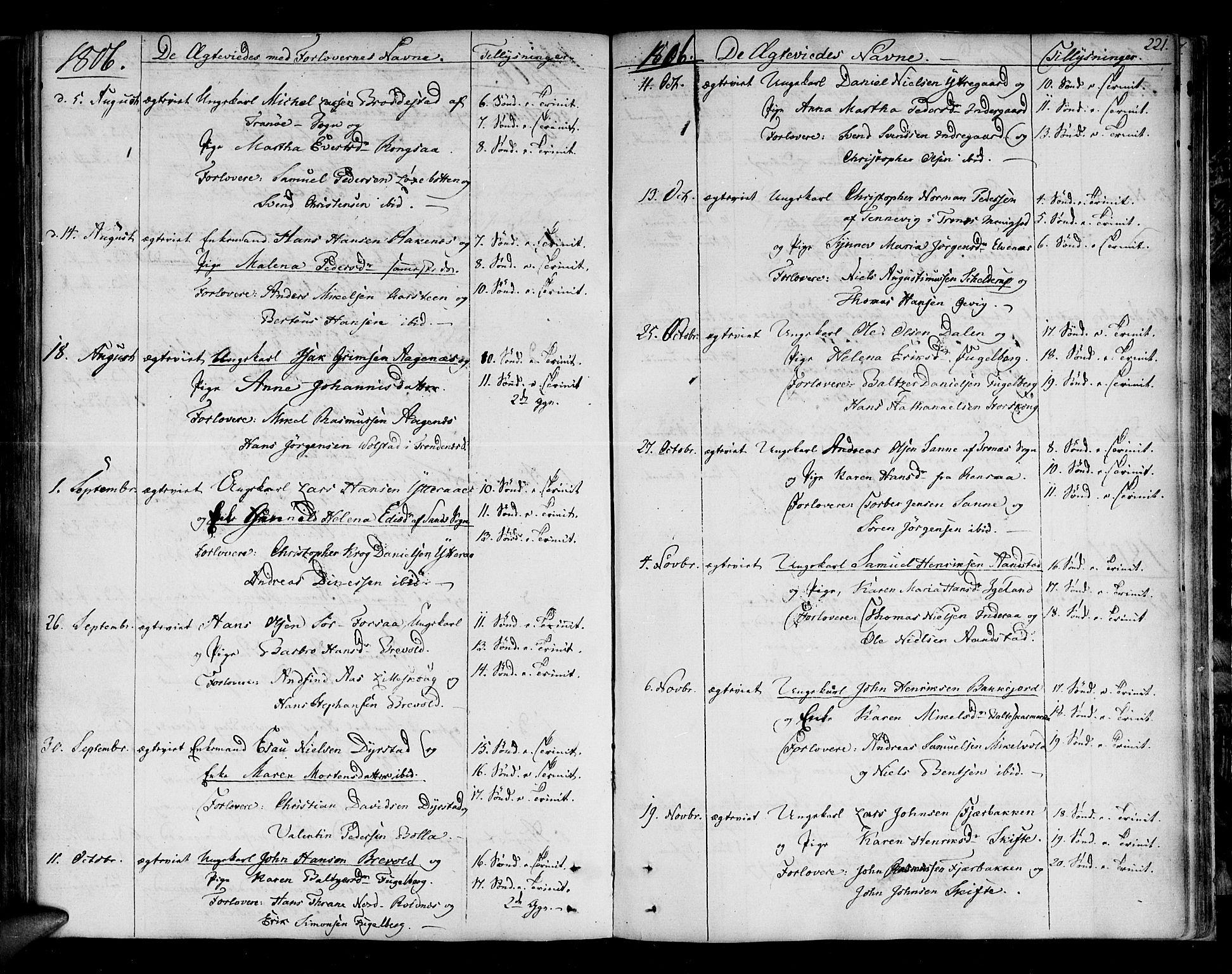SATØ, Ibestad sokneprestembete, Ministerialbok nr. 4, 1801-1824, s. 221