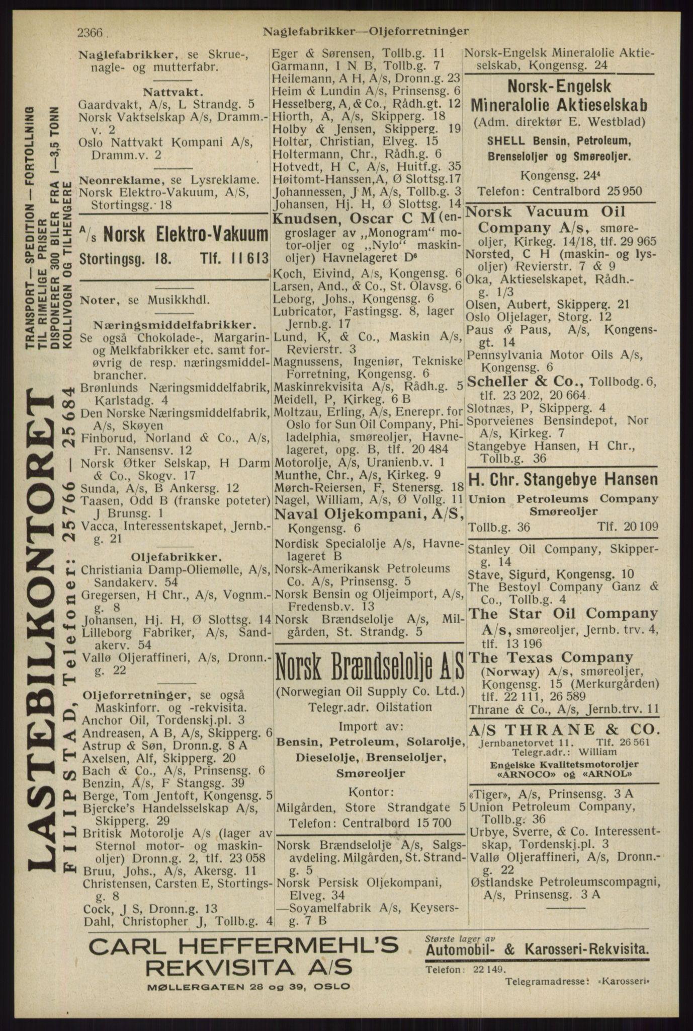RA, Oslo adressebok (publikasjon)*, 1934, s. 2366