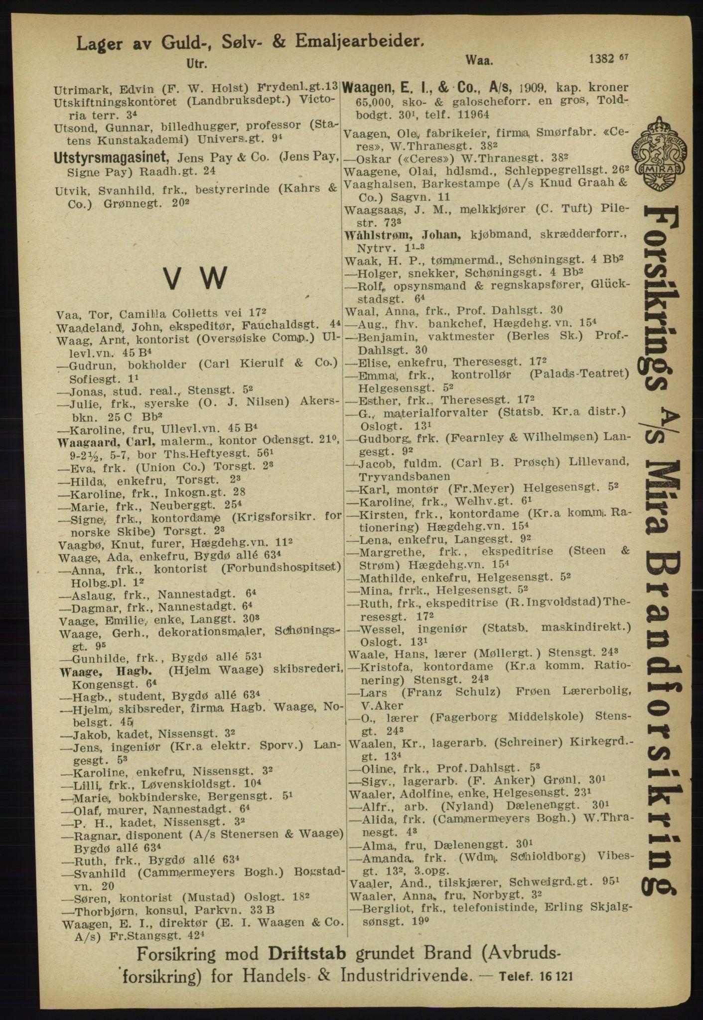PUBL, Kristiania/Oslo adressebok, 1918, s. 1474