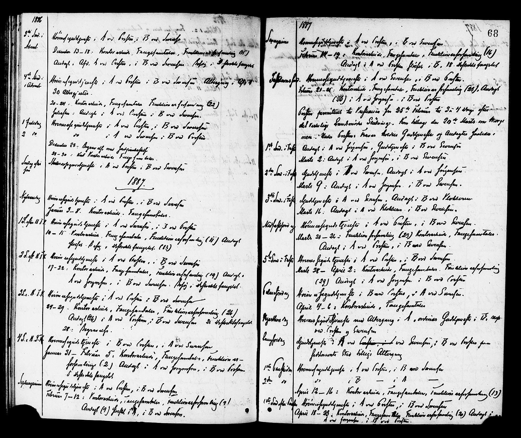SAT, Ministerialprotokoller, klokkerbøker og fødselsregistre - Sør-Trøndelag, 624/L0482: Ministerialbok nr. 624A03, 1870-1918, s. 68