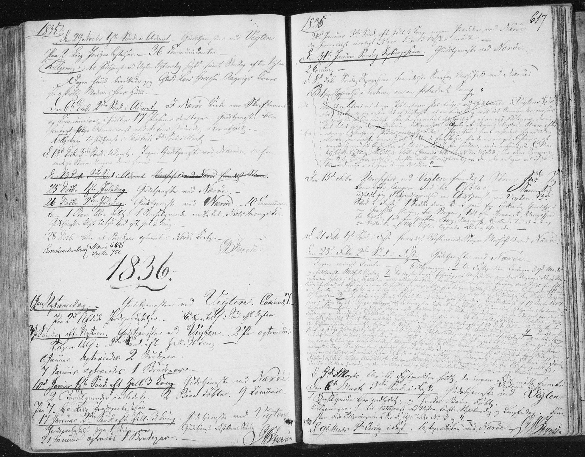 SAT, Ministerialprotokoller, klokkerbøker og fødselsregistre - Nord-Trøndelag, 784/L0669: Ministerialbok nr. 784A04, 1829-1859, s. 617