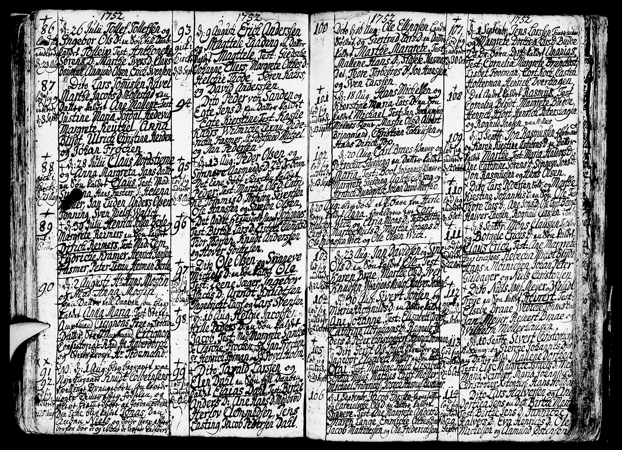 SAB, Nykirken Sokneprestembete, H/Haa: Ministerialbok nr. A 3, 1717-1764, s. 248