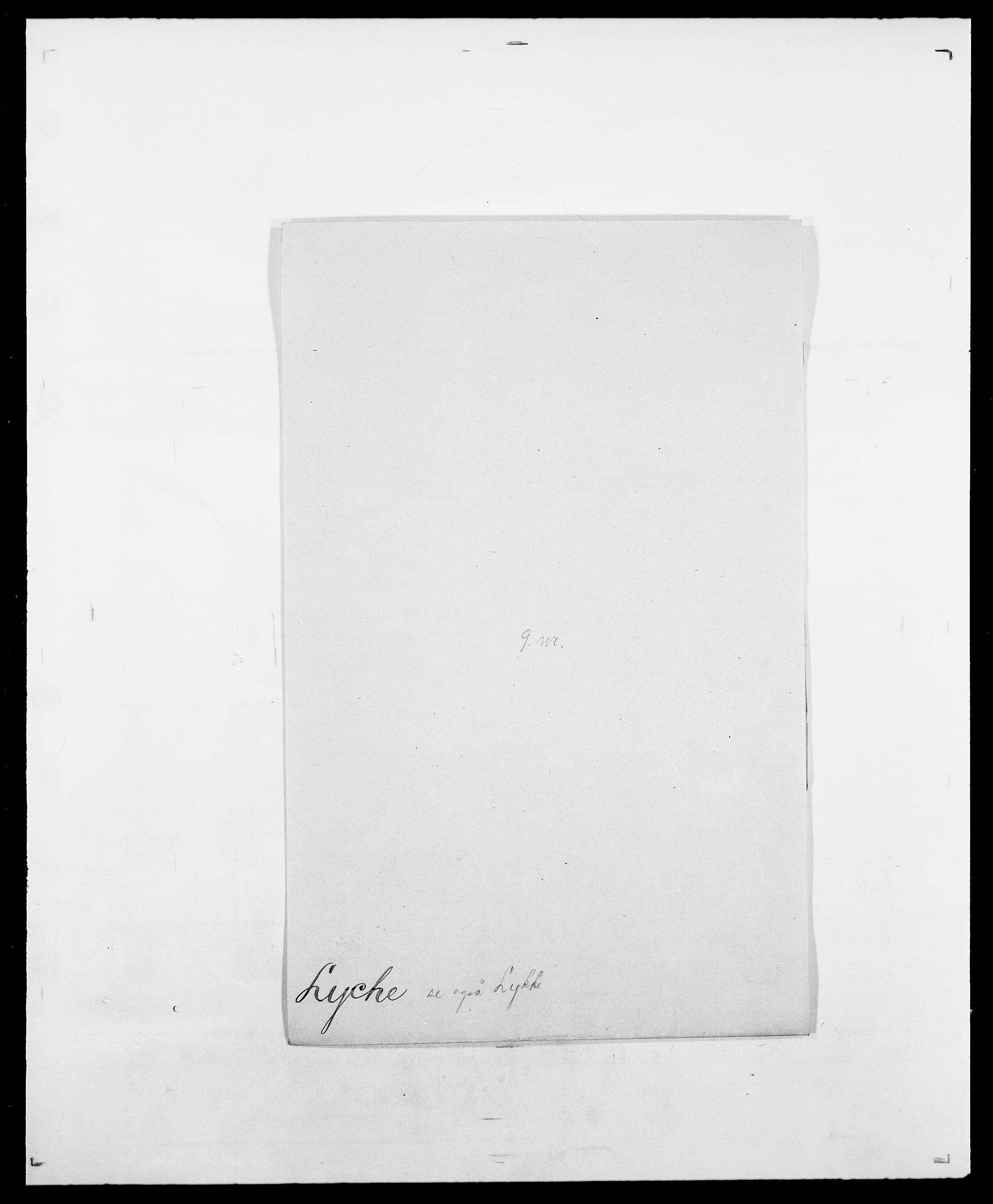 SAO, Delgobe, Charles Antoine - samling, D/Da/L0024: Lobech - Lærum, s. 684