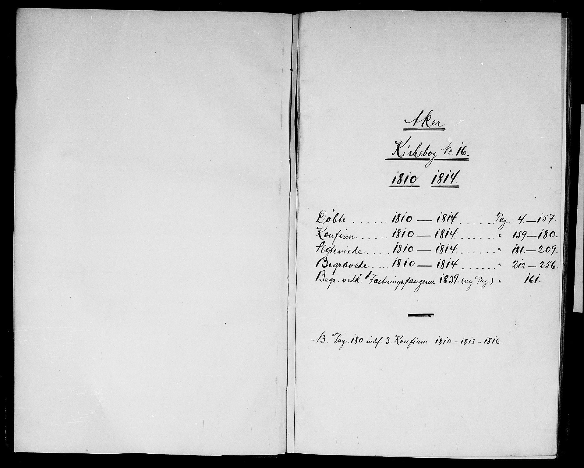 SAO, Garnisonsmenigheten Kirkebøker, G/Ga/L0002: Klokkerbok nr. 2, 1810-1814
