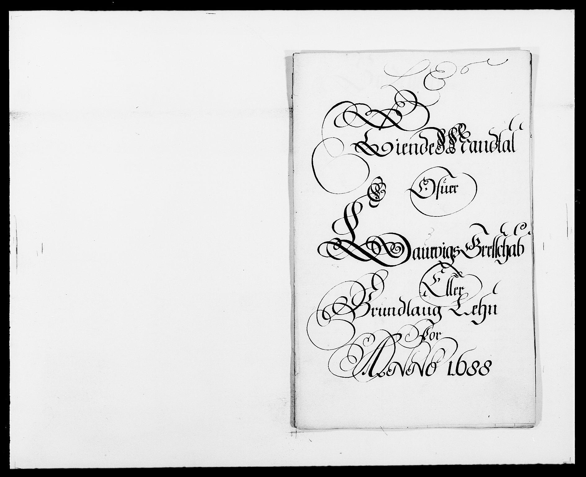 RA, Rentekammeret inntil 1814, Reviderte regnskaper, Fogderegnskap, R33/L1971: Fogderegnskap Larvik grevskap, 1688-1689, s. 114
