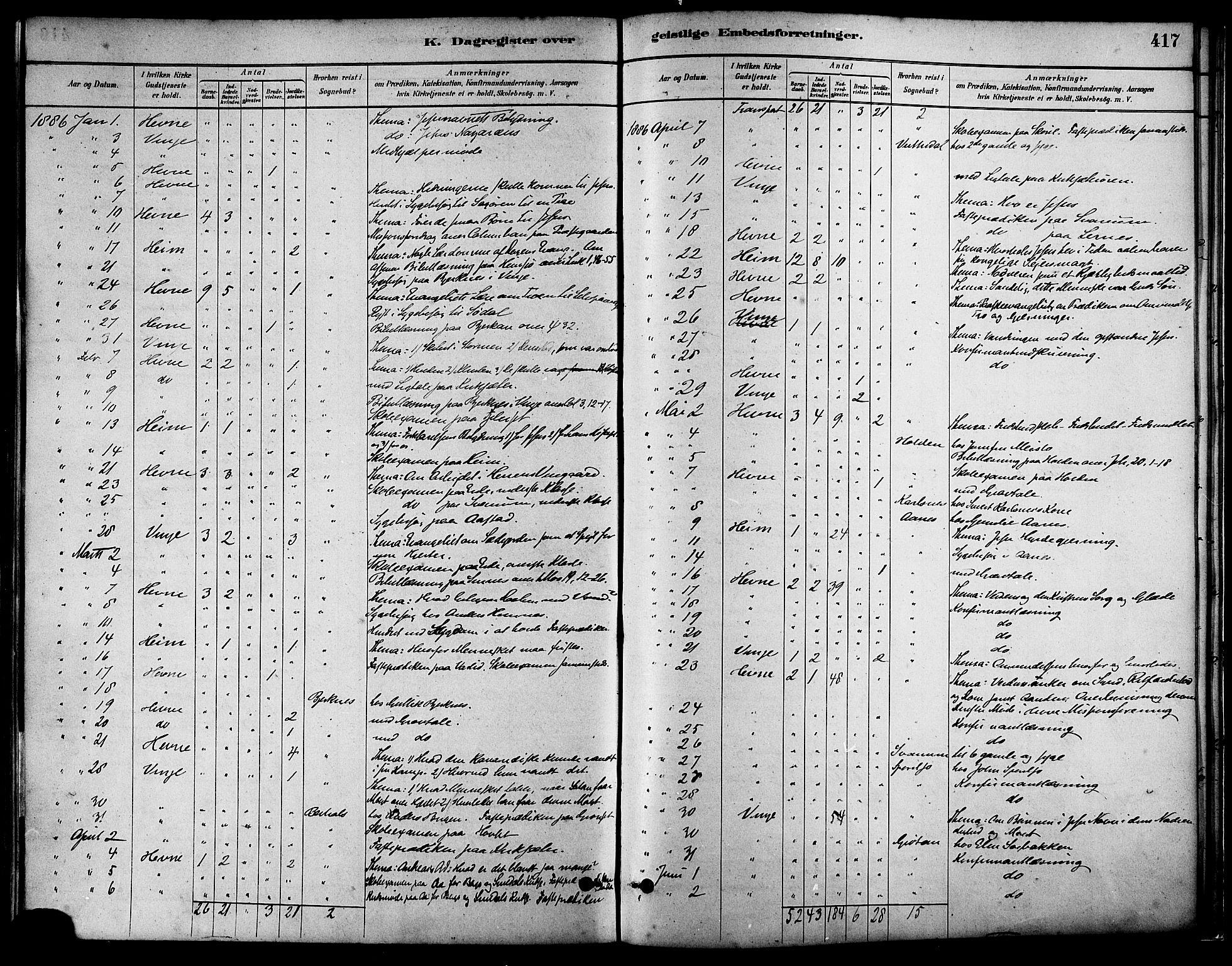 SAT, Ministerialprotokoller, klokkerbøker og fødselsregistre - Sør-Trøndelag, 630/L0496: Ministerialbok nr. 630A09, 1879-1895, s. 417
